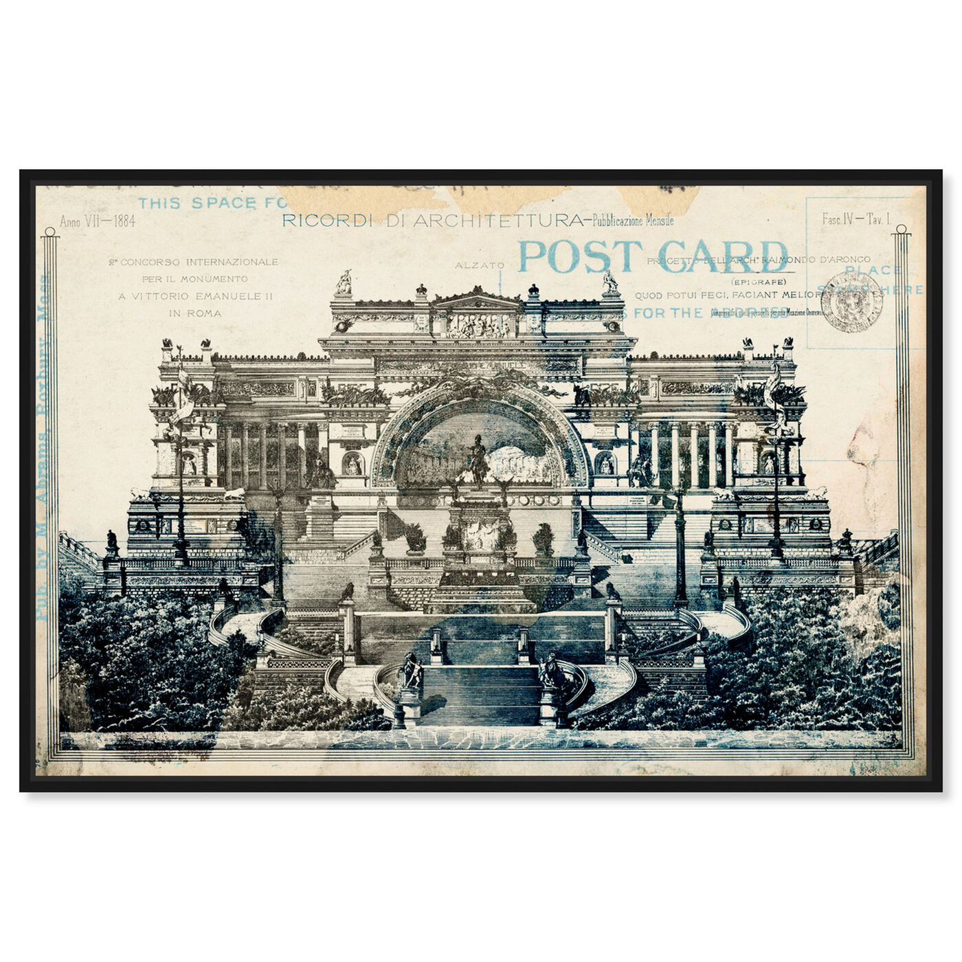 Front view of Monumento Vittorio Emanuelle II featuring architecture and buildings and structures art.