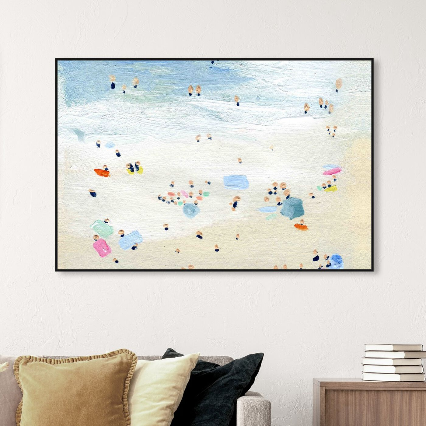 Hanging view of Tiny People Horizontal featuring nautical and coastal and coastal art.