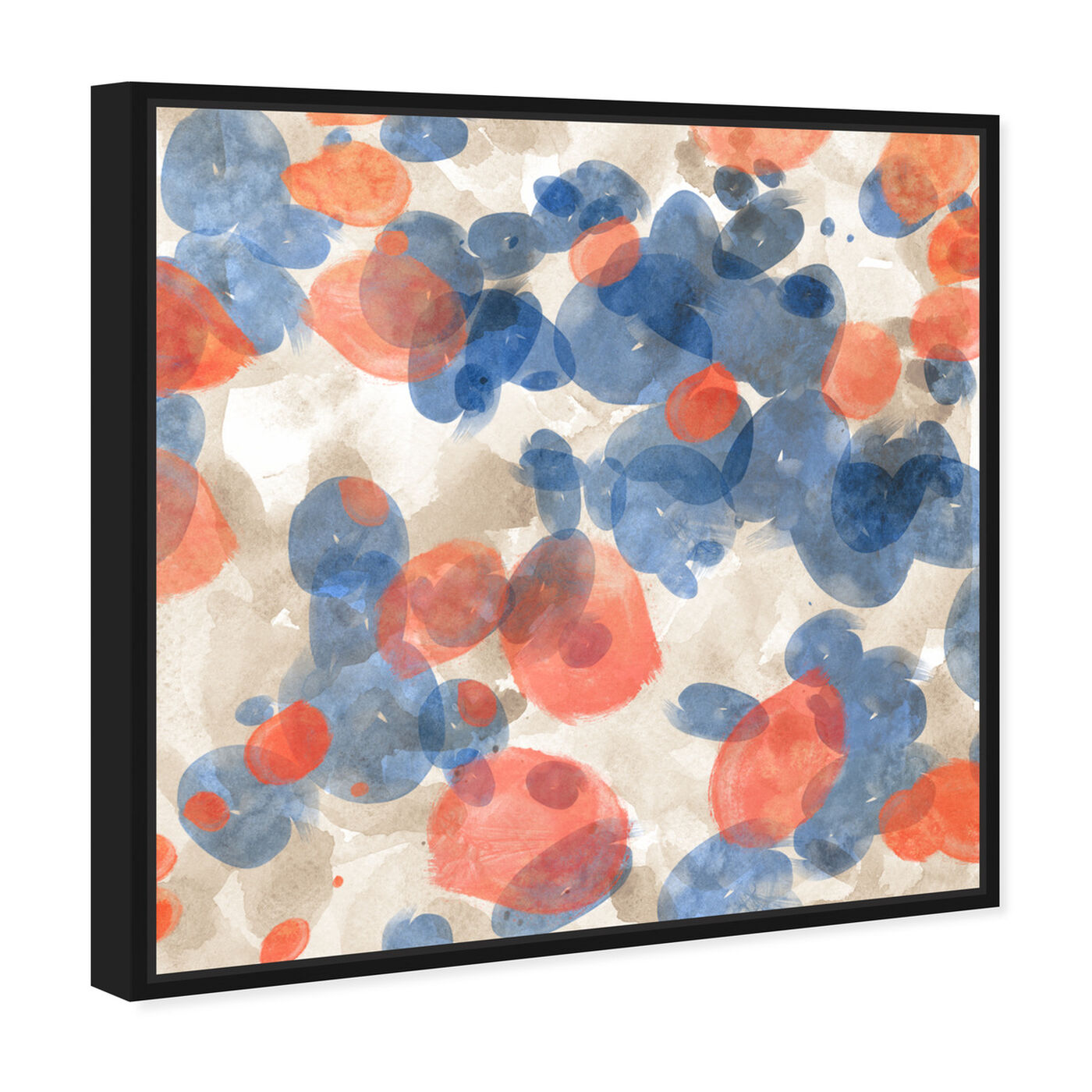 Angled view of Floating Petals featuring abstract and paint art.