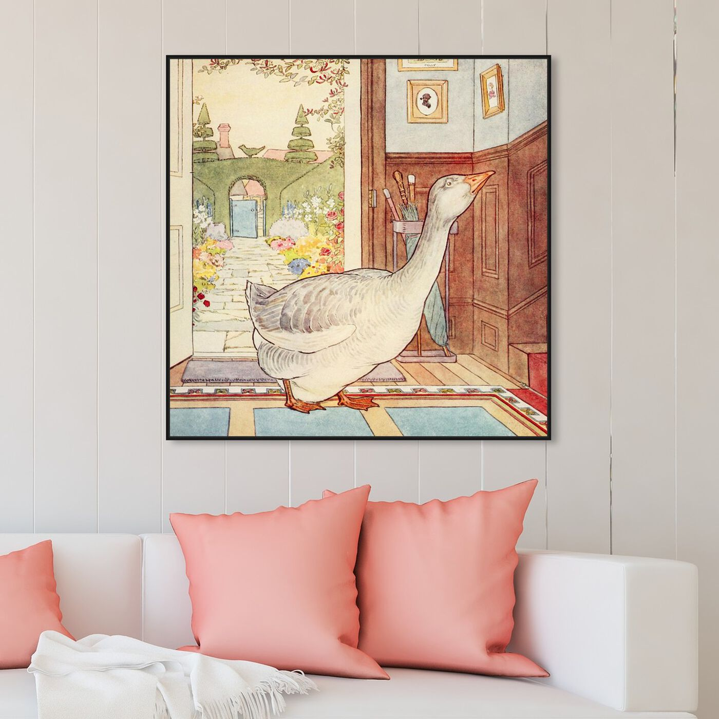 Hanging view of Goosey Goosey featuring animals and birds art.