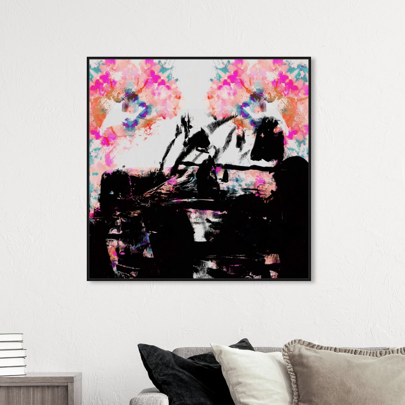 Hanging view of Zaza featuring abstract and paint art.