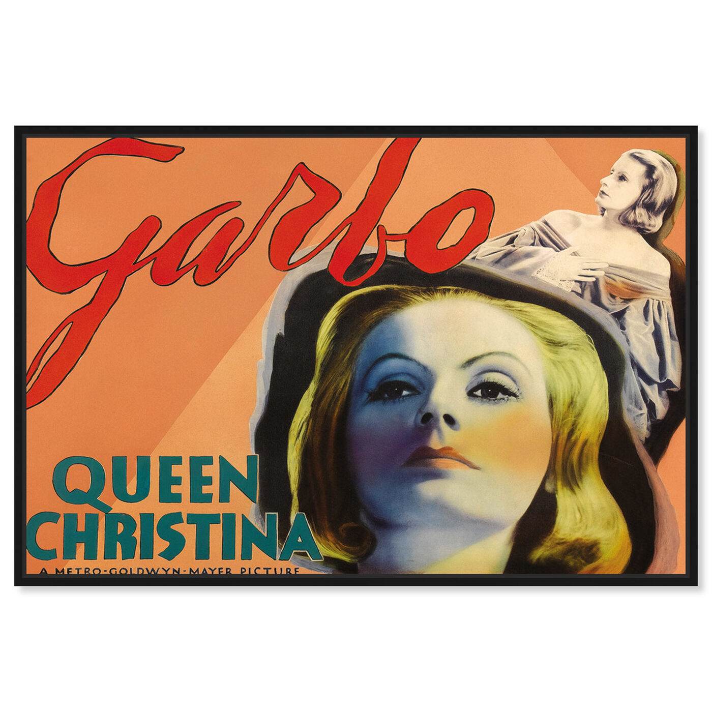Front view of Garbo featuring advertising and posters art.