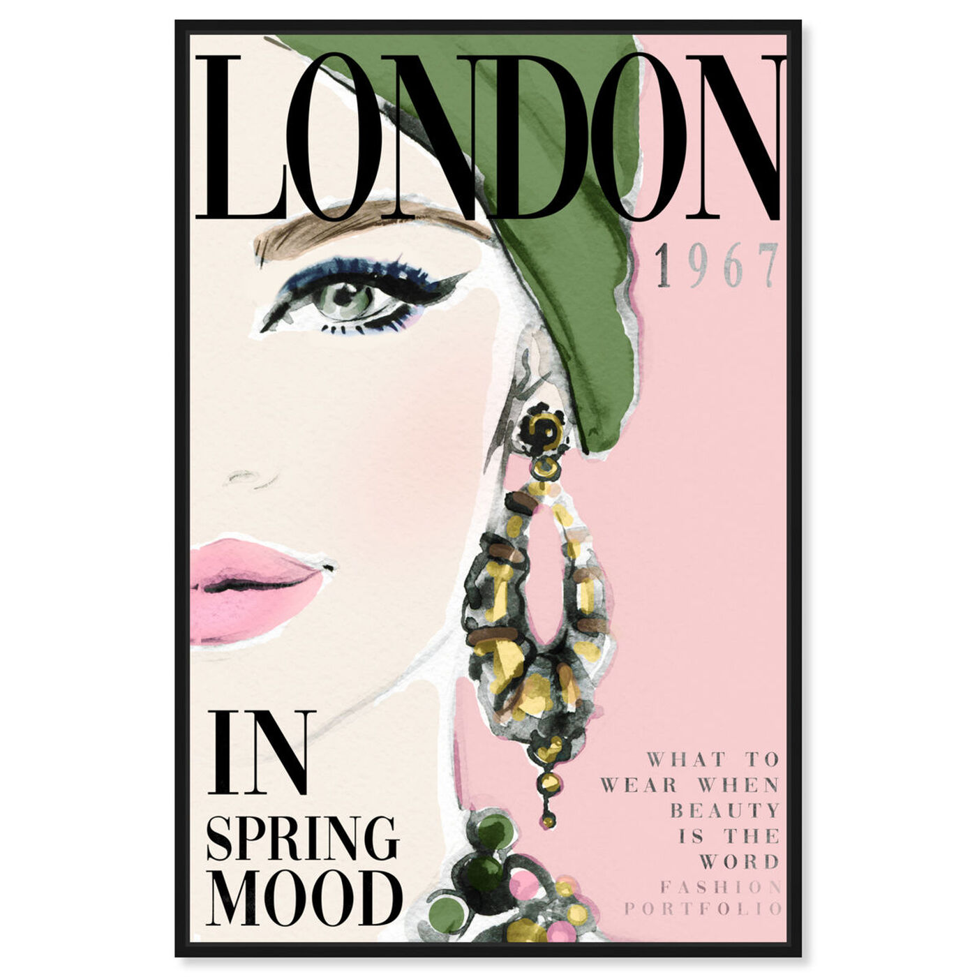 Front view of Cover London Watercolor featuring advertising and publications art.