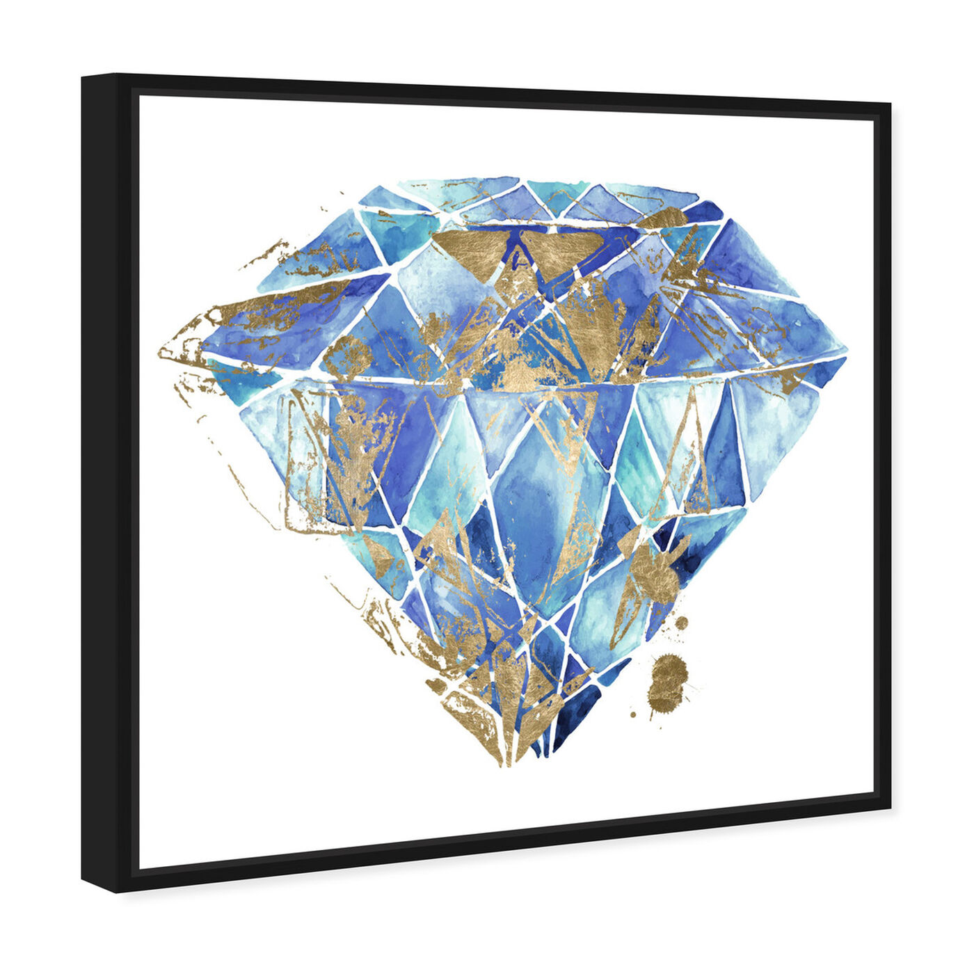 Angled view of Treasure I featuring abstract and crystals art.