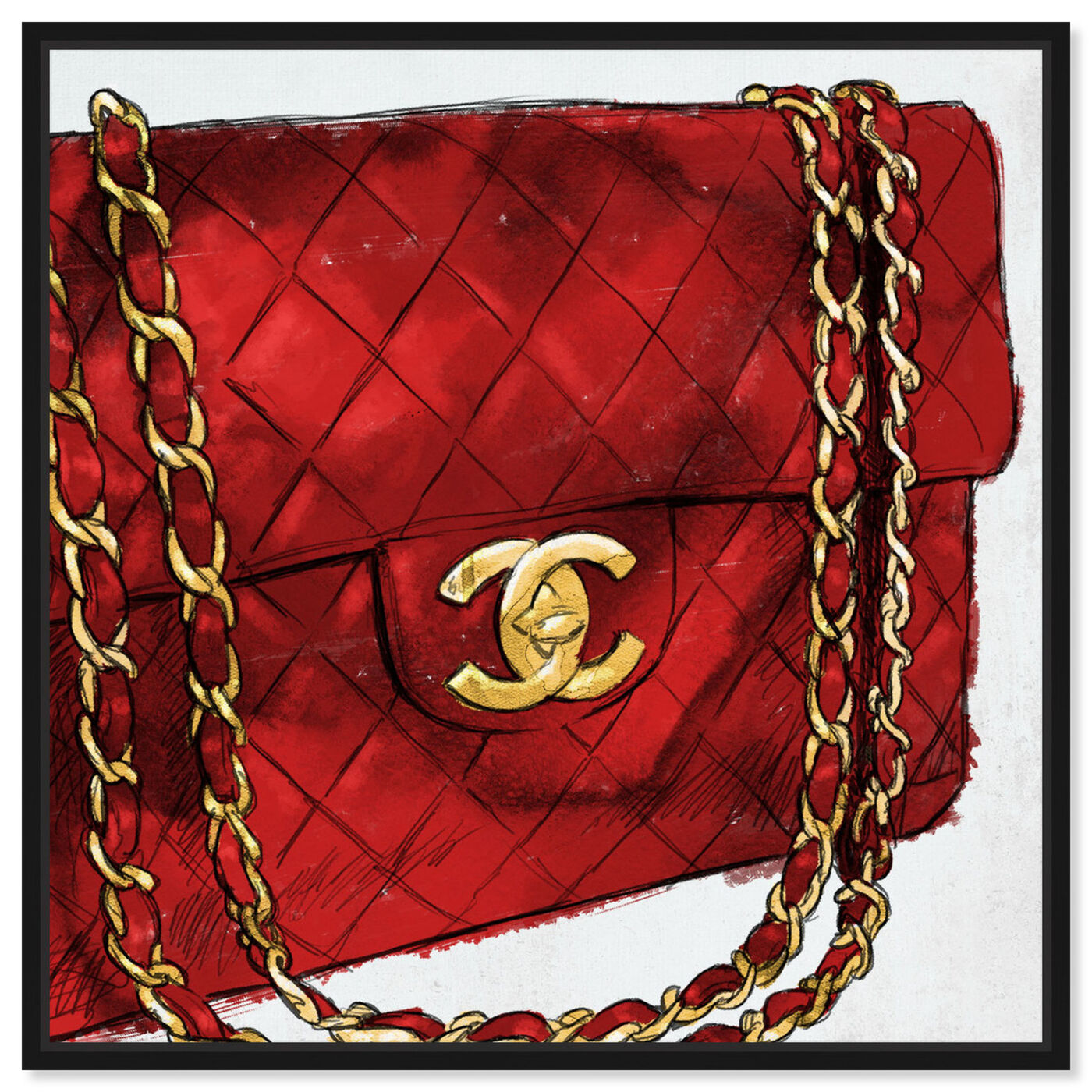 Front view of Pride and Joy Cherry featuring fashion and glam and handbags art.
