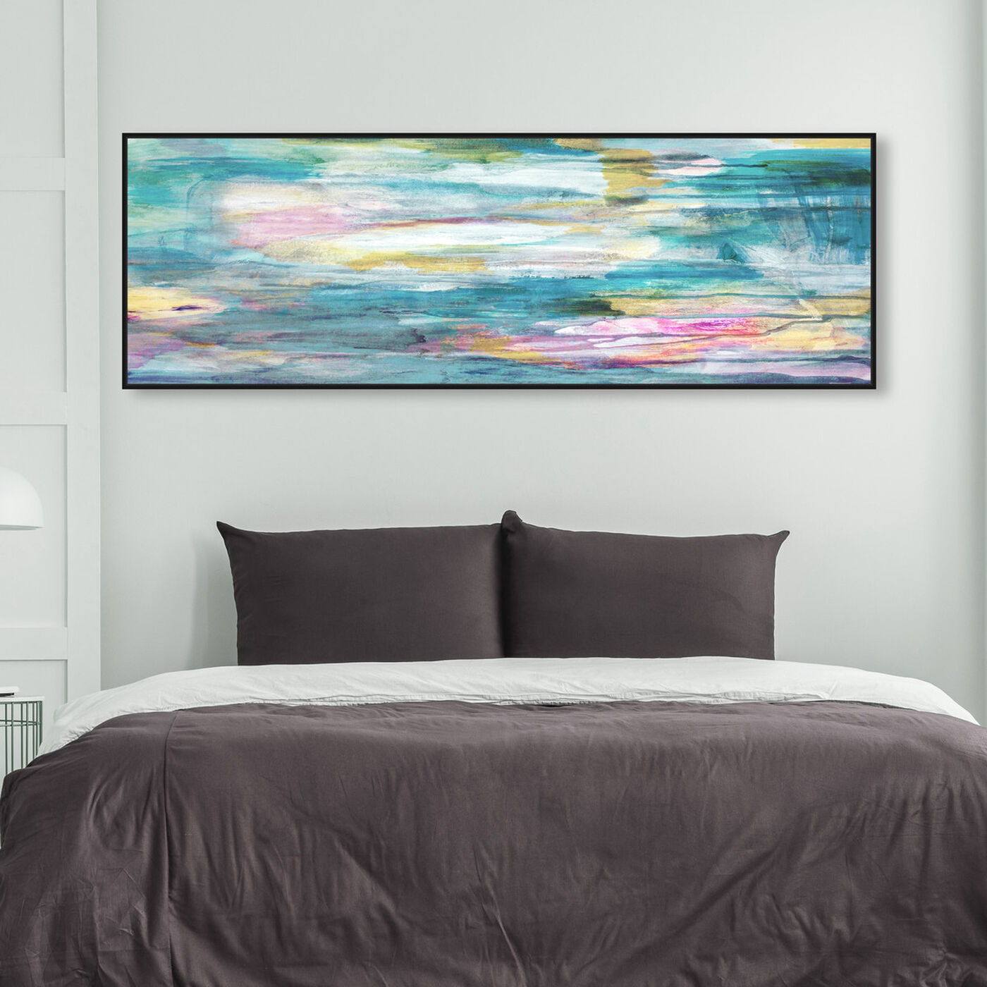 Hanging view of The Calm Love featuring abstract and paint art.