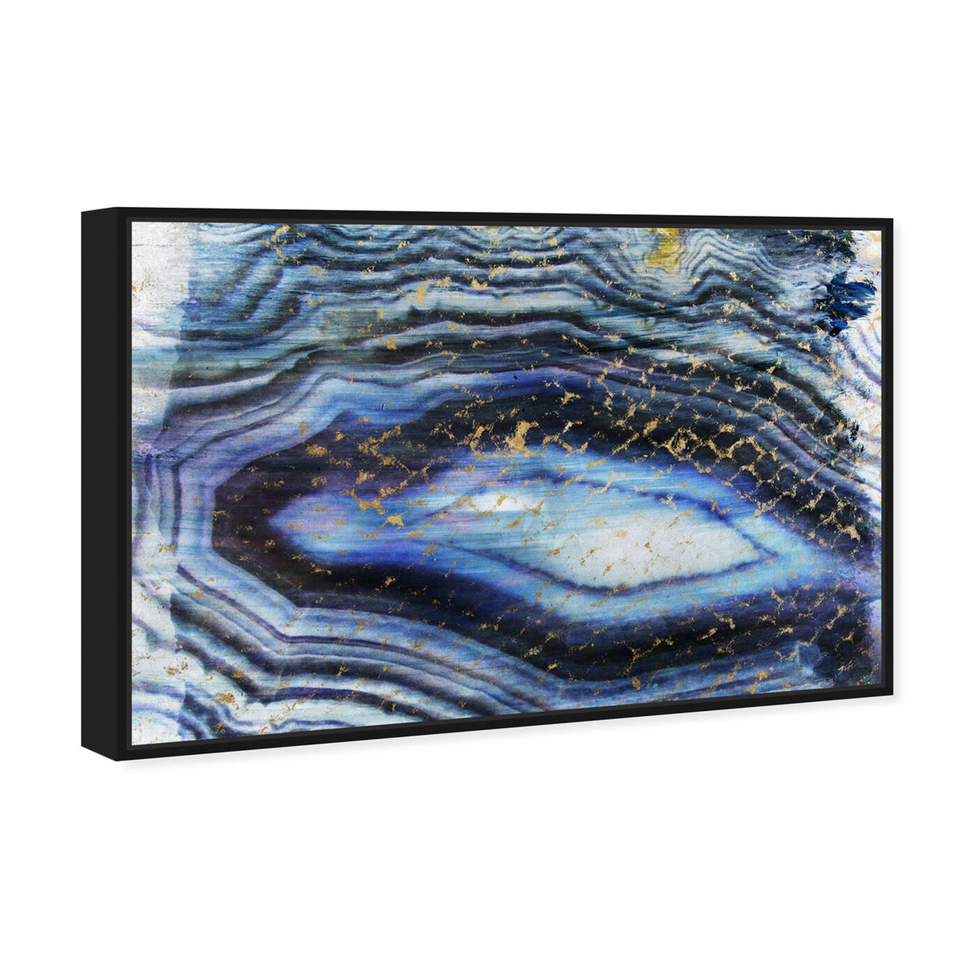 Angled view of Sea of Gold featuring abstract and crystals art.