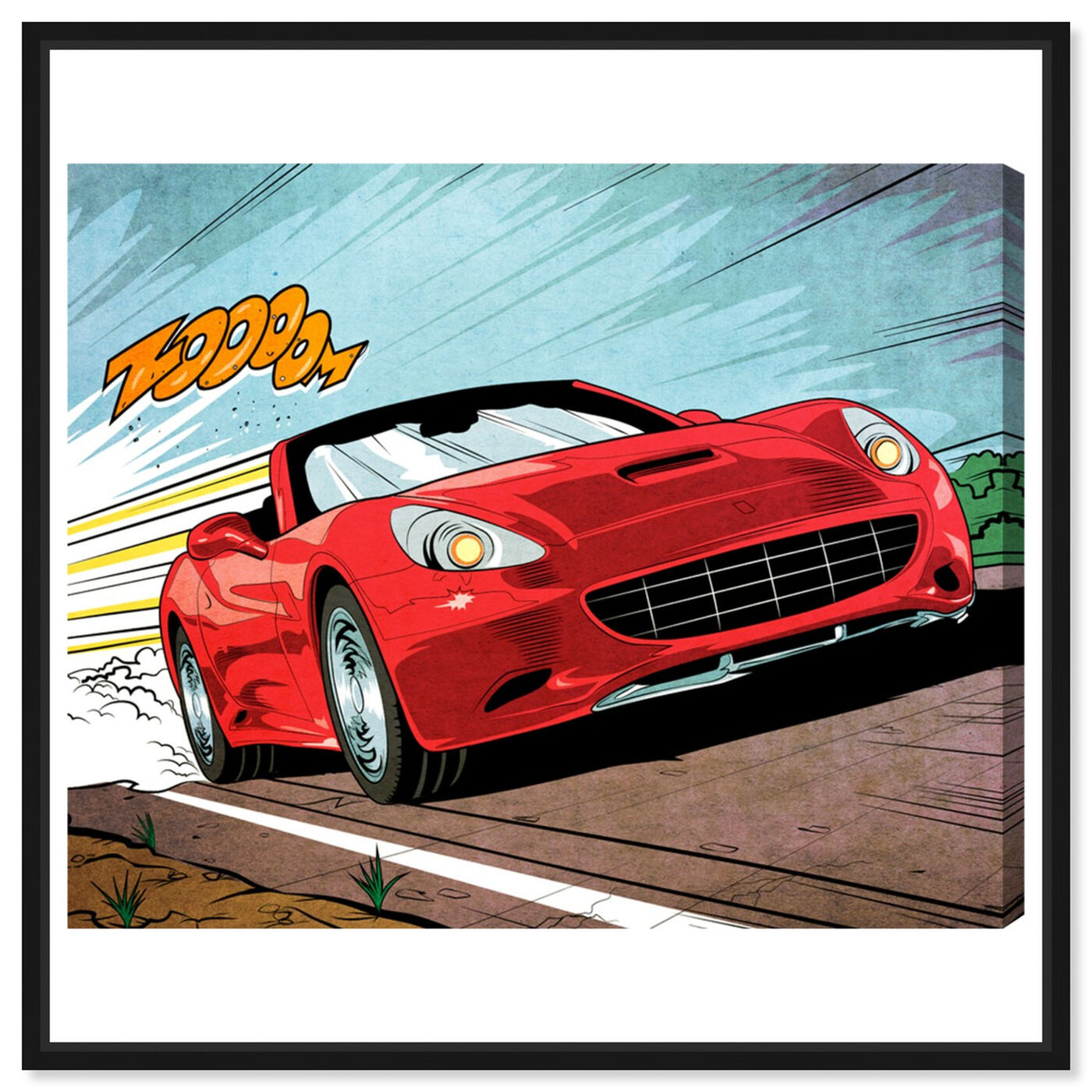 Front view of Vroom featuring advertising and comics art.