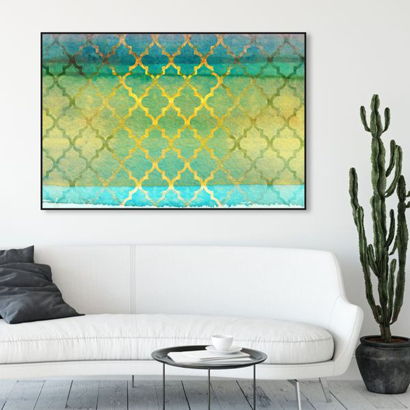 Hanging view of Alakran featuring abstract and patterns art.