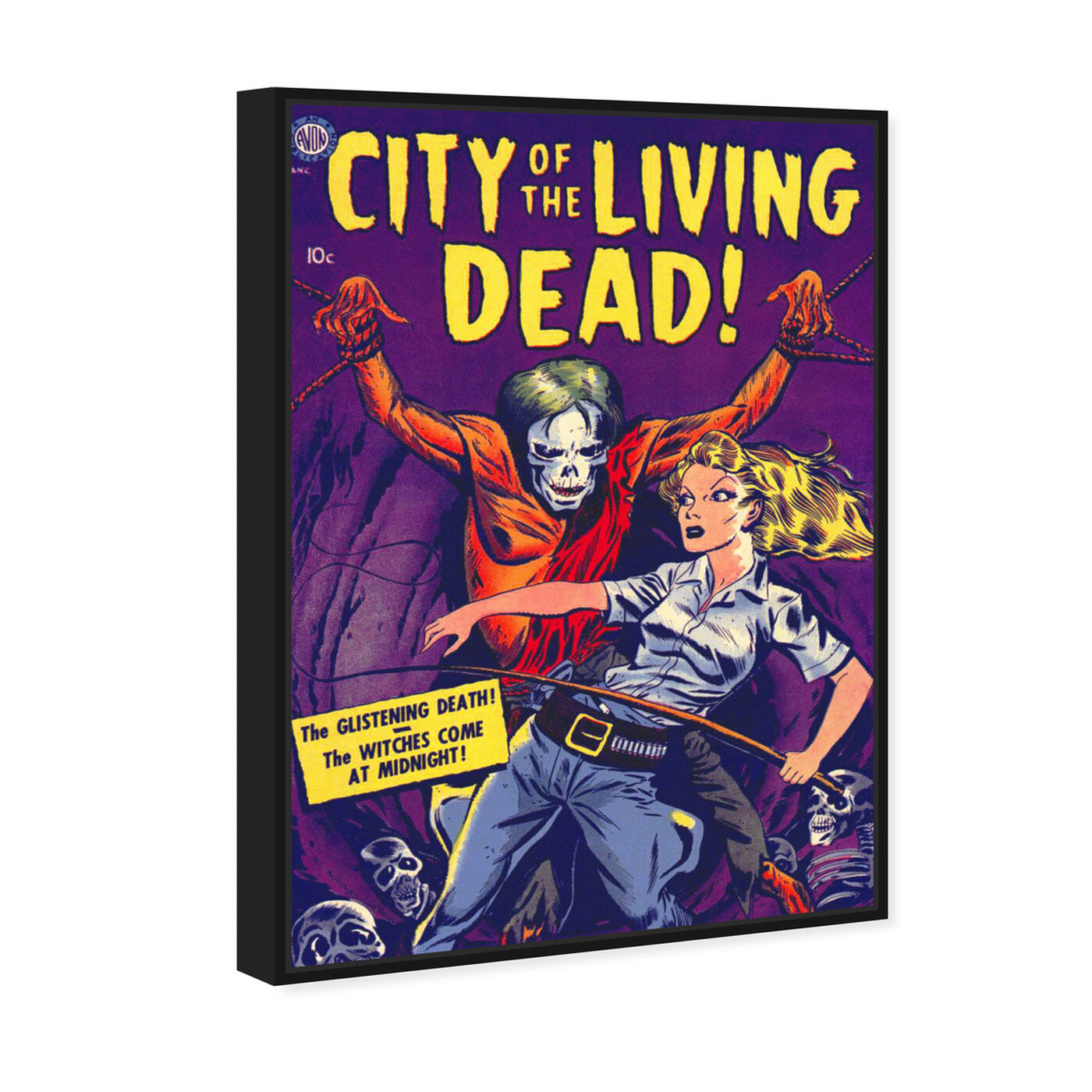 Angled view of City Of The Living Dead featuring advertising and comics art.