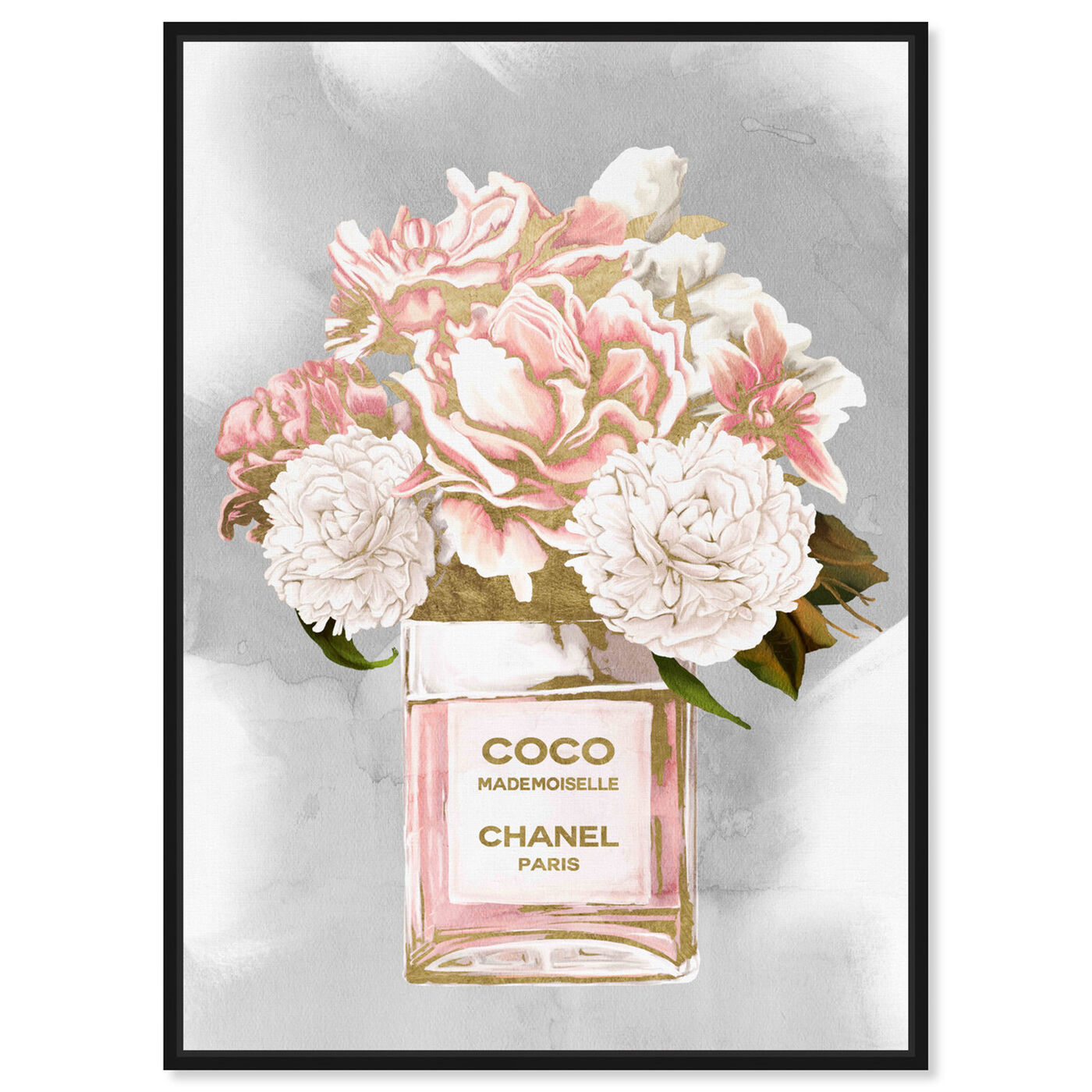 Front view of Floral Perfume Peonies Tall featuring fashion and glam and perfumes art.