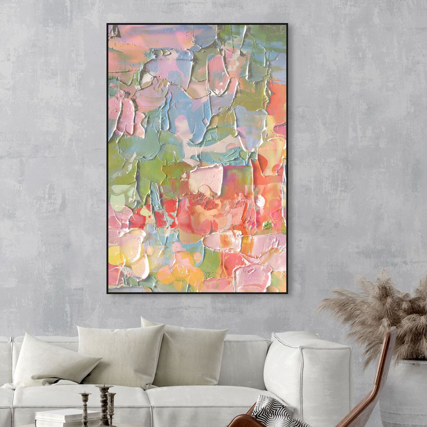 Hanging view of I Feel Happy featuring abstract and textures art.