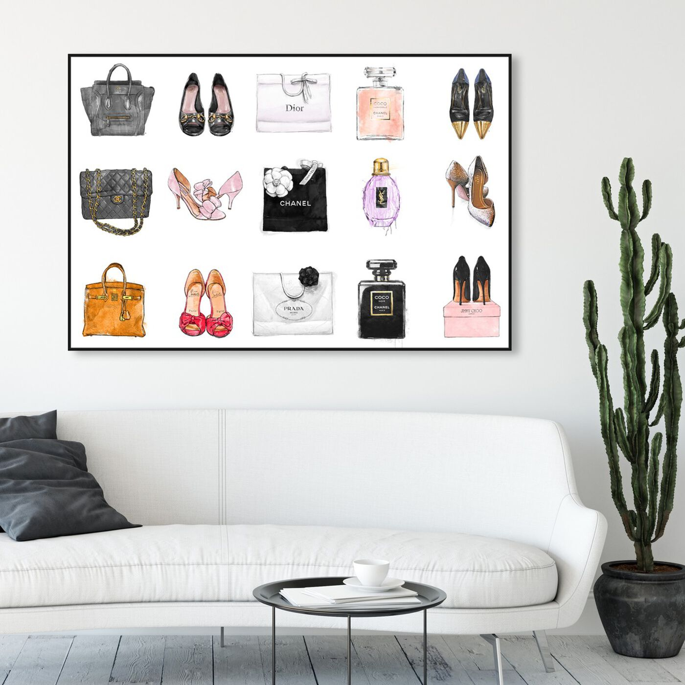Hanging view of Fashion Chart featuring fashion and glam and shoes art.