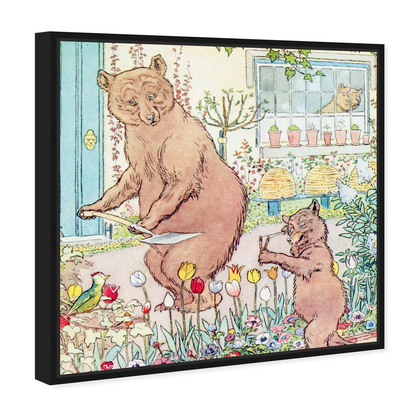 Angled view of Three Bears featuring animals and zoo and wild animals art.