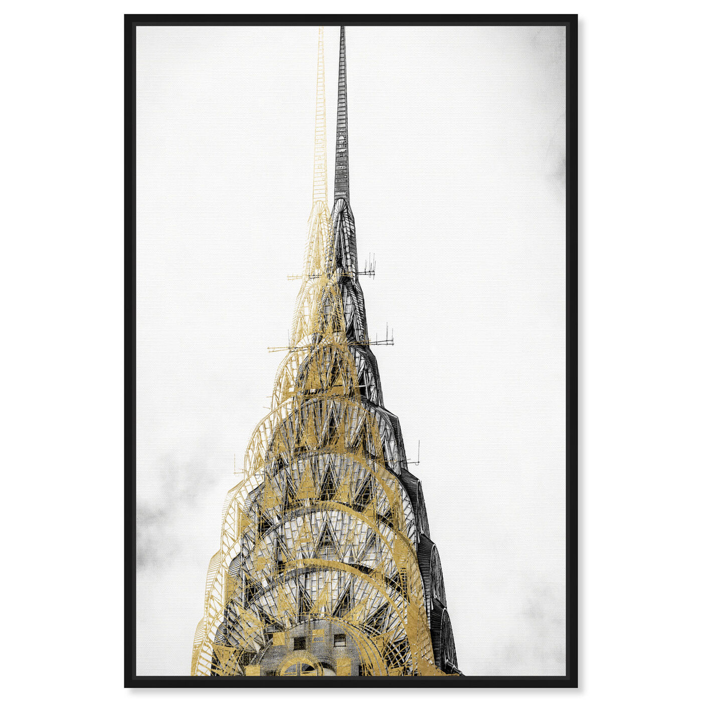 Front view of Golden Building Top featuring architecture and buildings and united states buildings art.