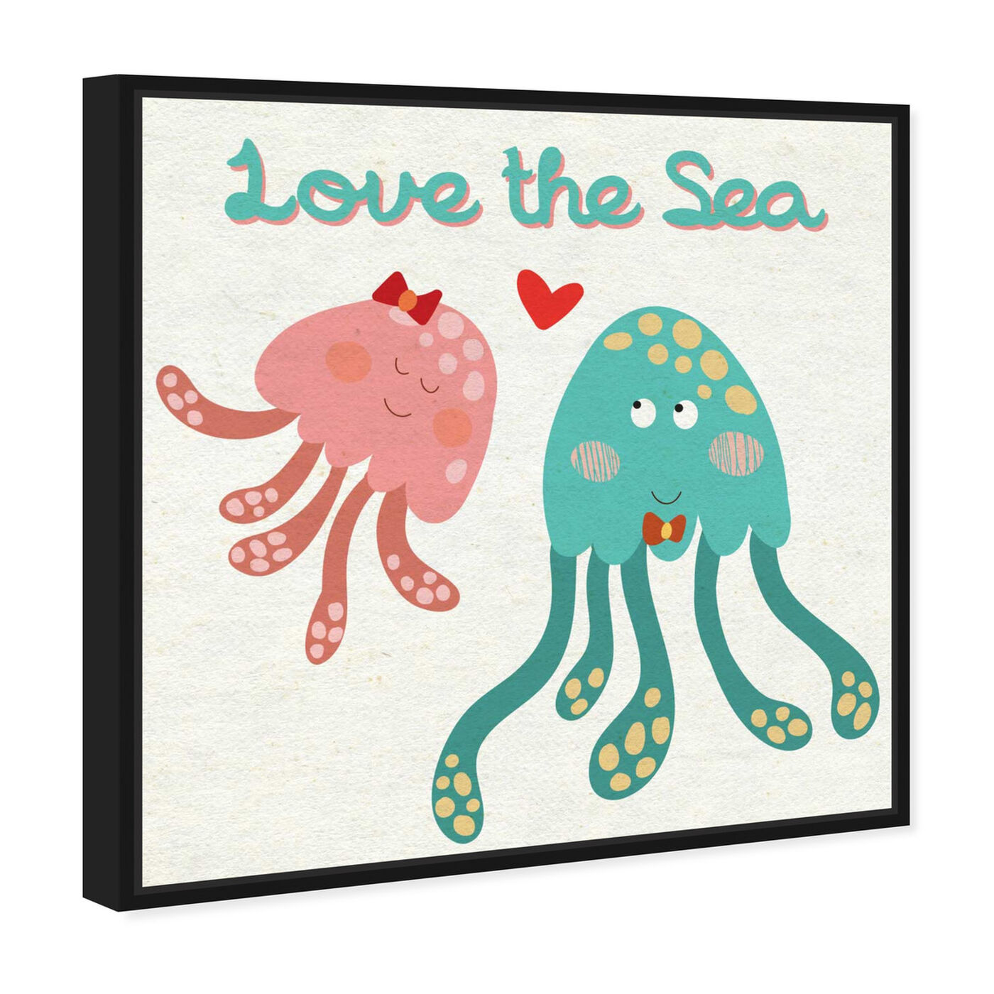 Angled view of Love the Sea featuring animals and sea animals art.