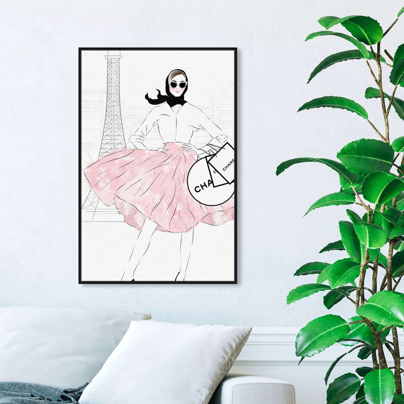 Hanging view of Shopping Look featuring fashion and glam and outfits art.