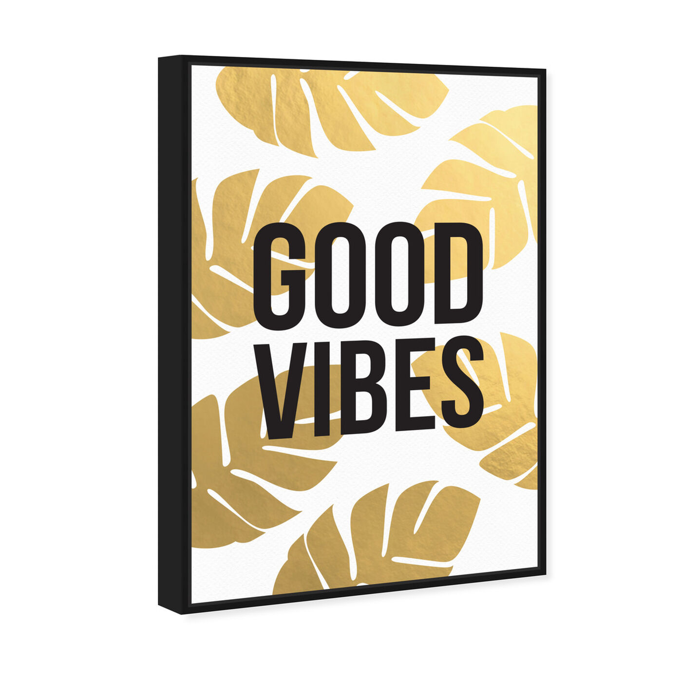Angled view of Good Vibes featuring typography and quotes and motivational quotes and sayings art.