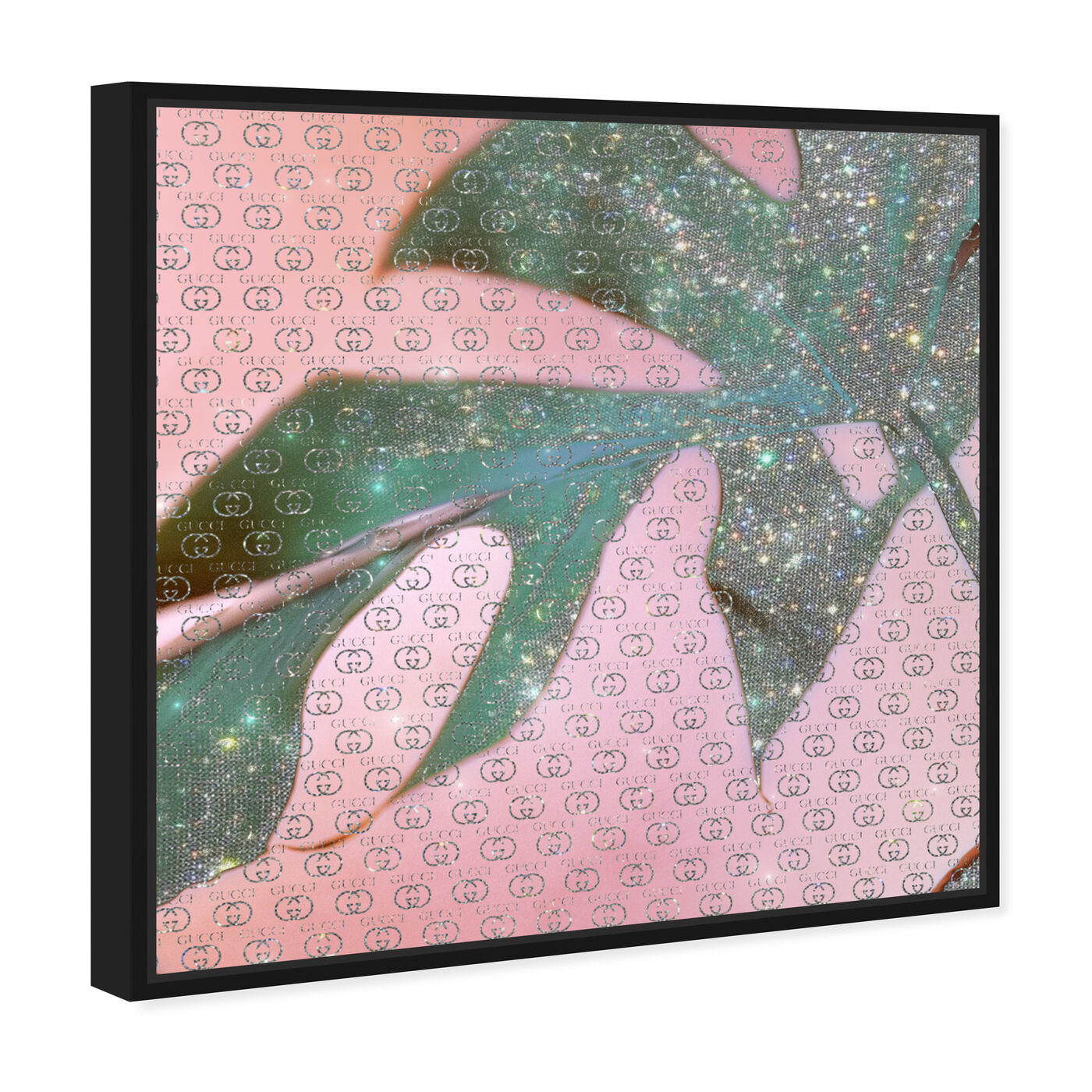 Angled view of Monstera Glam featuring fashion and glam and lifestyle art.