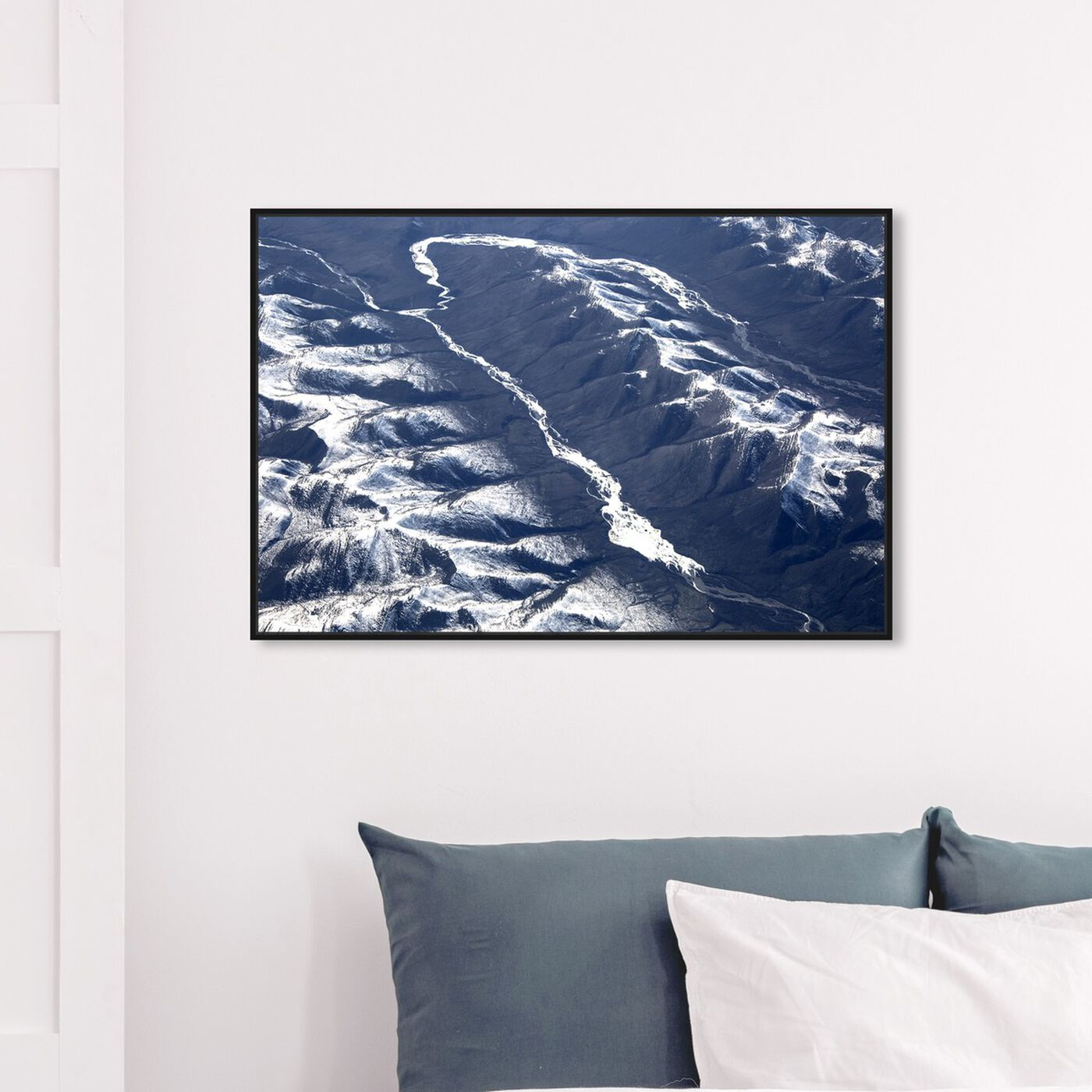 Hanging view of Curro Cardenal - Aero View I featuring nature and landscape and mountains art.