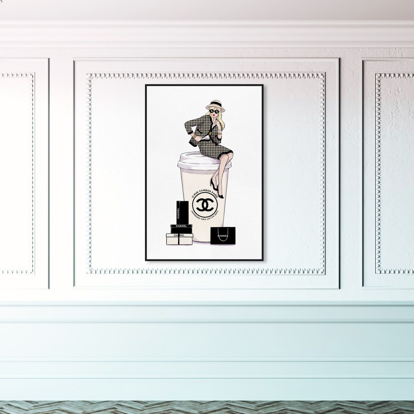 Hanging view of Cafe au Lait France featuring fashion and glam and lifestyle art.