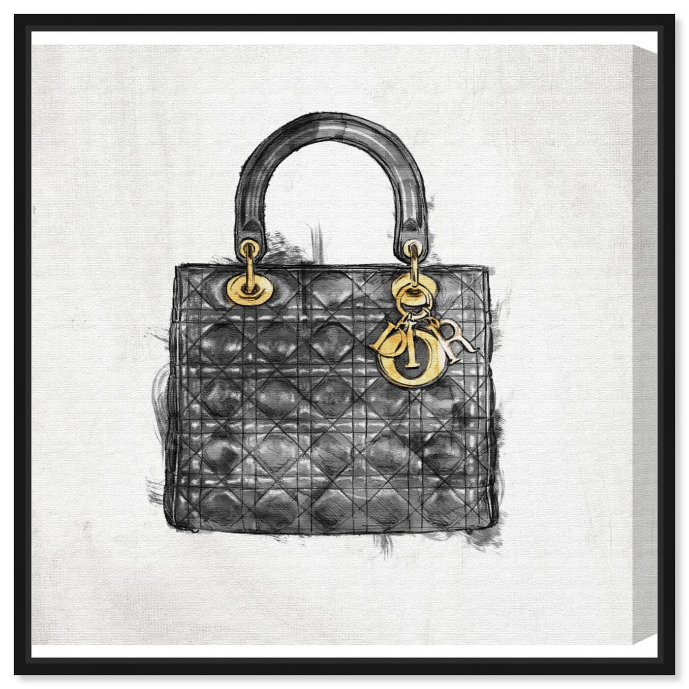 Front view of Christian's Essentials Black featuring fashion and glam and handbags art.