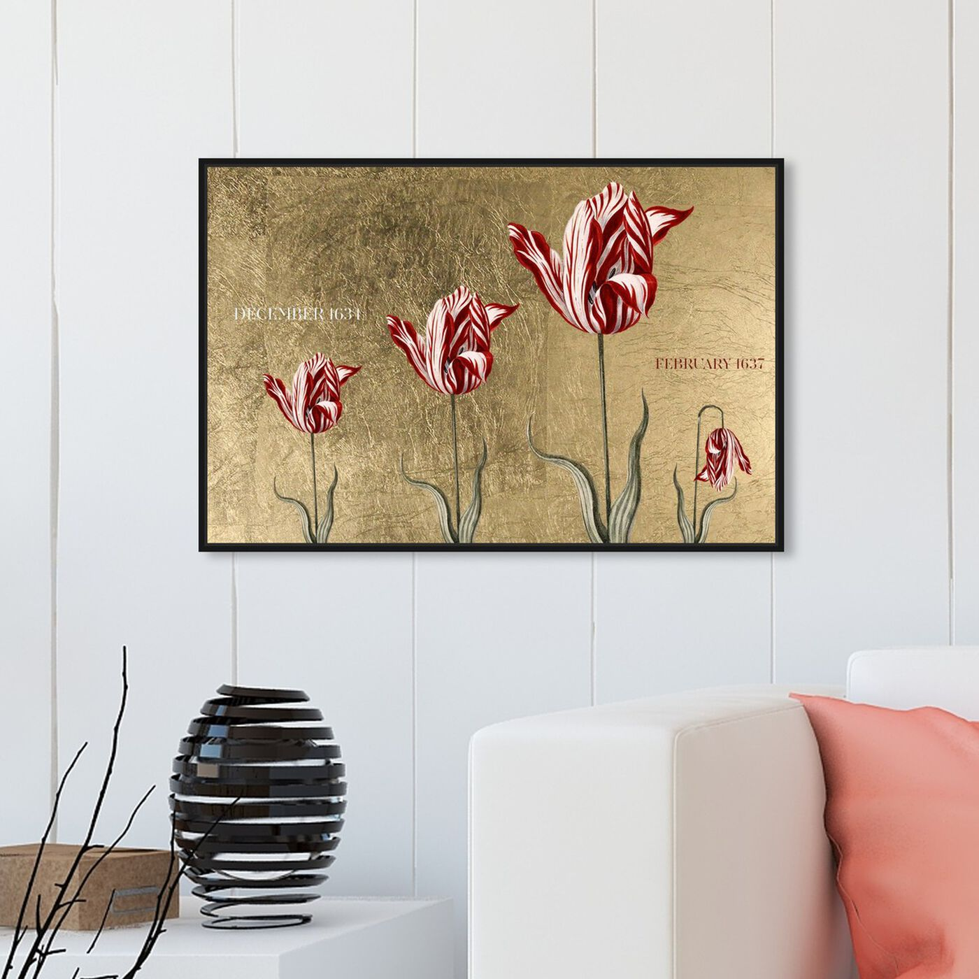 Hanging view of Tulipomania featuring floral and botanical and florals art.