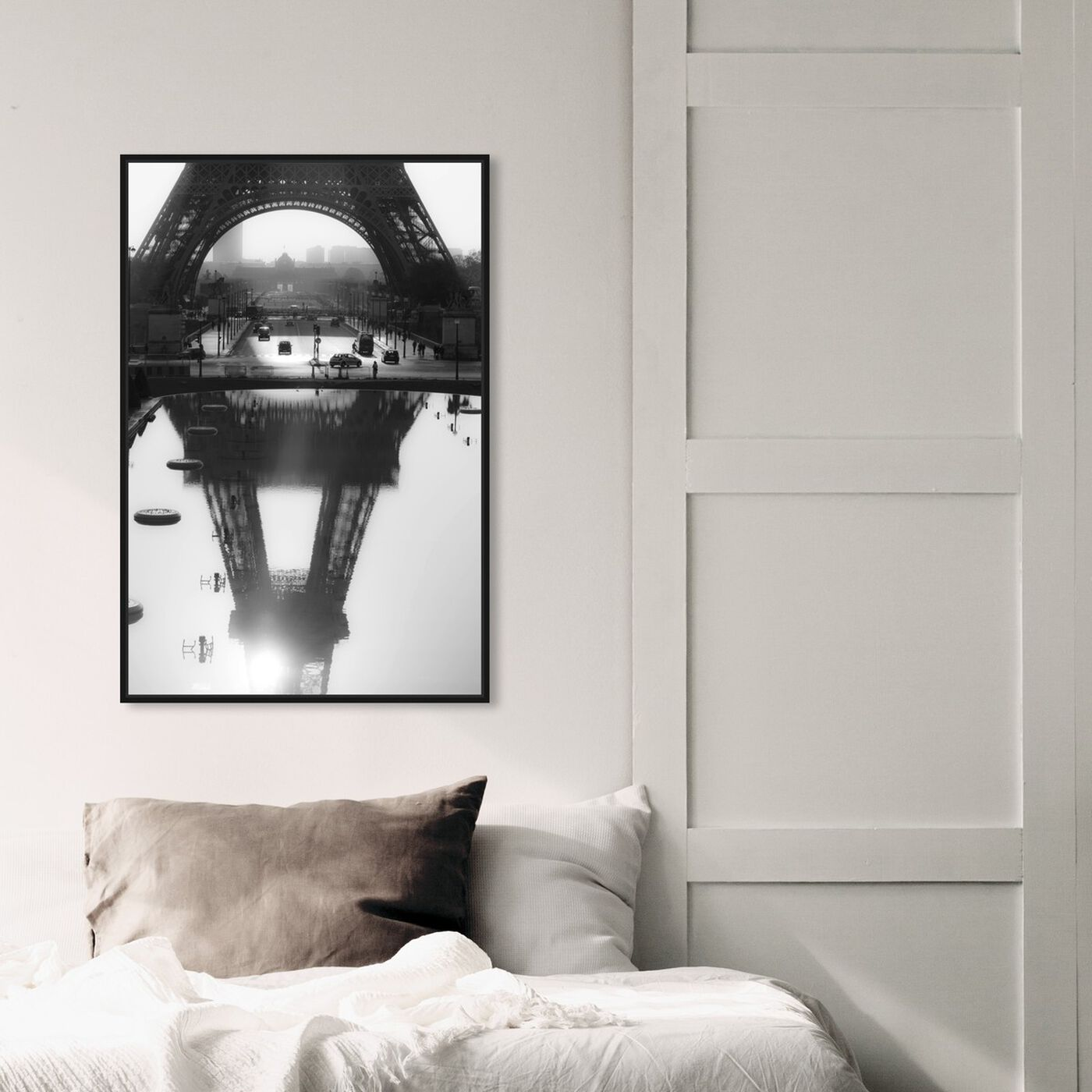 Hanging view of Sai - Paris Reflections featuring cities and skylines and european cities art.