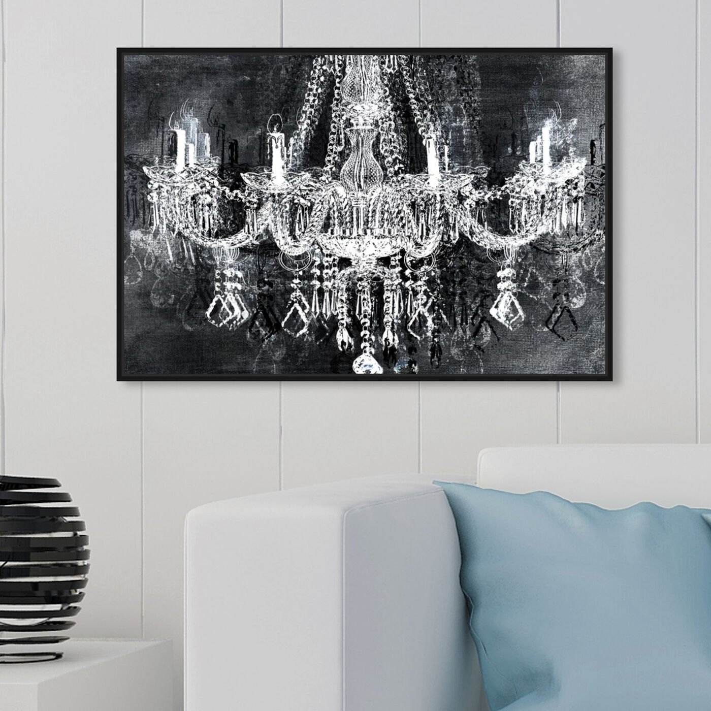 Hanging view of Crystal Attraction featuring fashion and glam and chandeliers art.