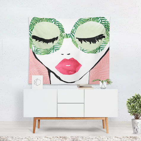 Plant Lady Glasses Tapestry Art