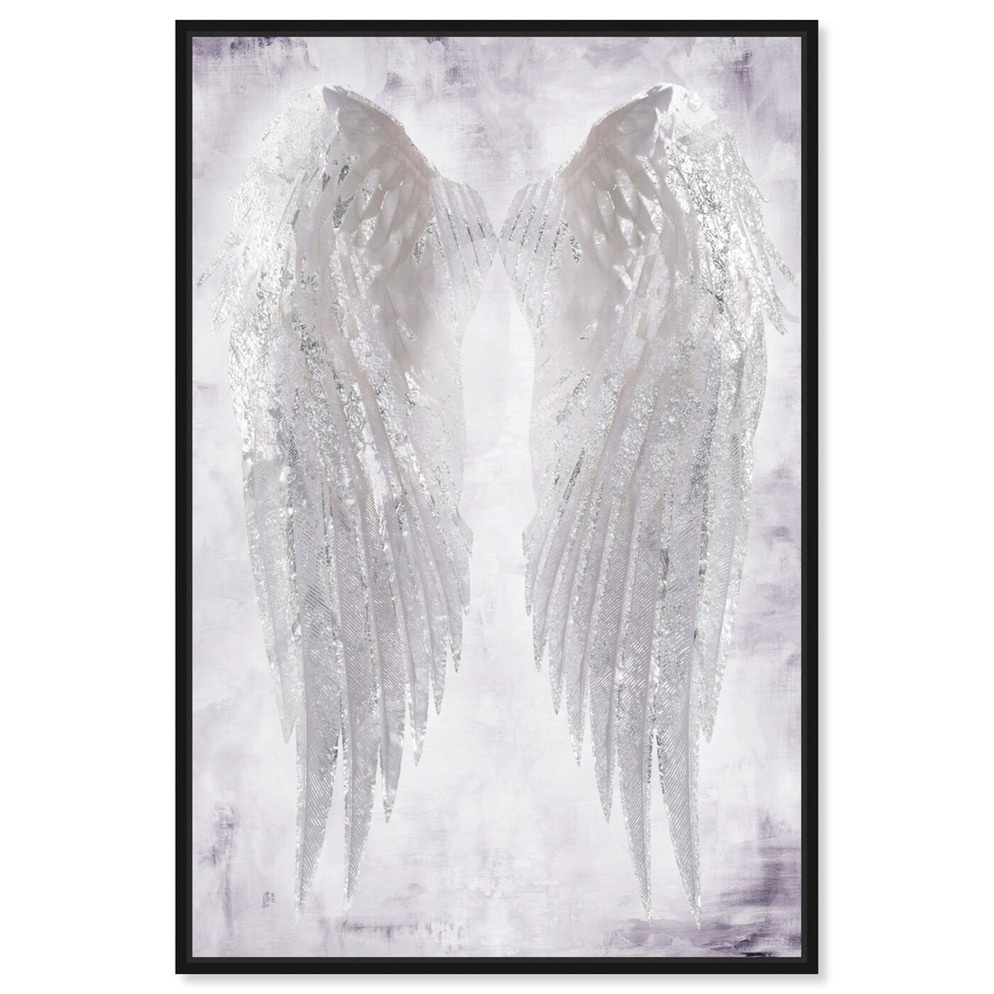 Front view of Wings of Angel Amethyst featuring fashion and glam and wings art.