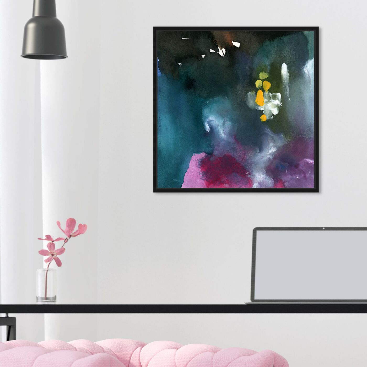 Hanging view of Nebulosas featuring abstract and paint art.