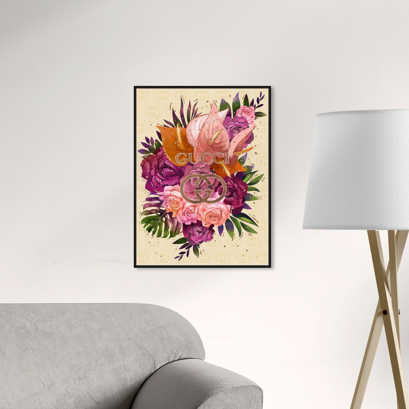 Hanging view of Firenze Floral featuring floral and botanical and florals art.