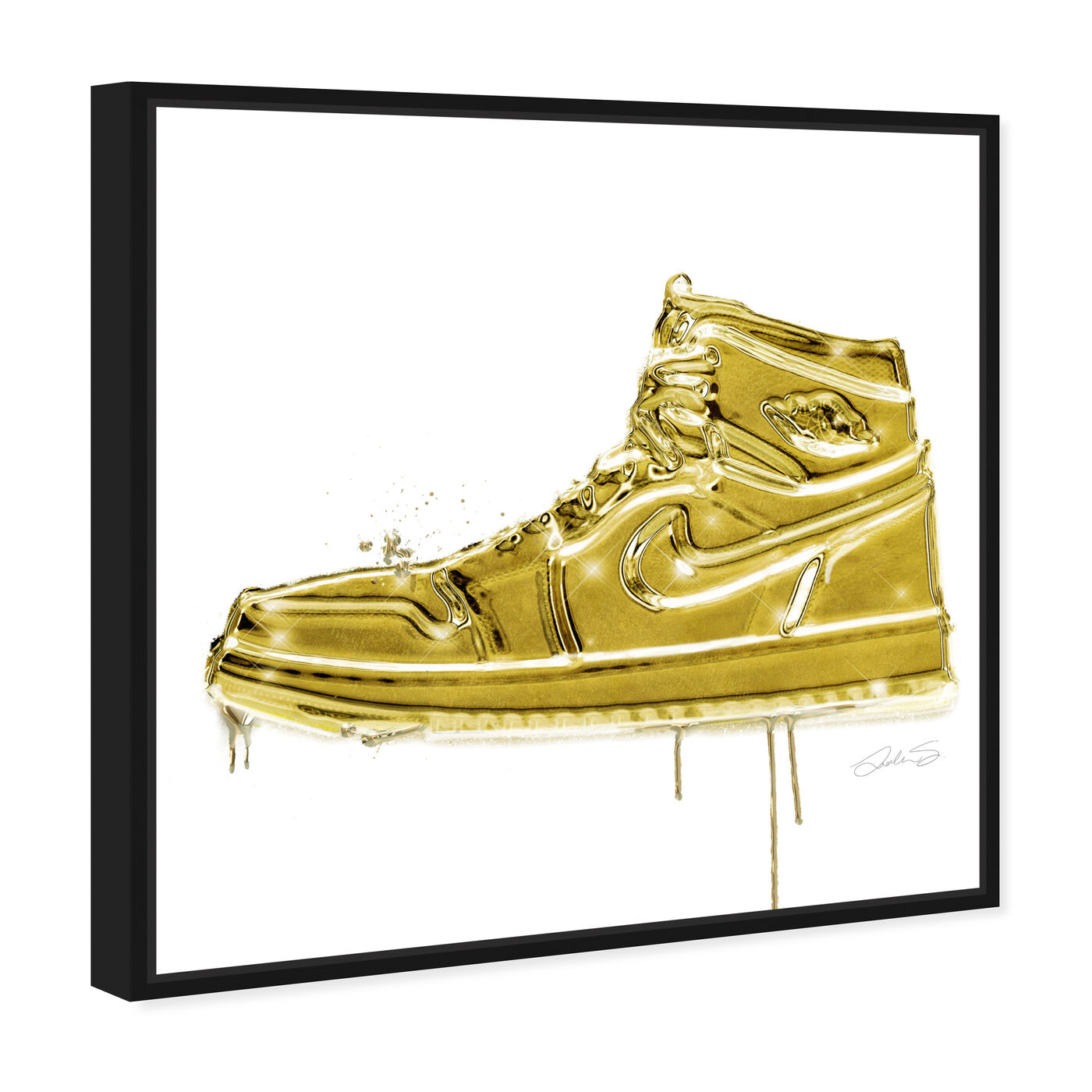 Angled view of Lola Air Golden featuring fashion and glam and shoes art.