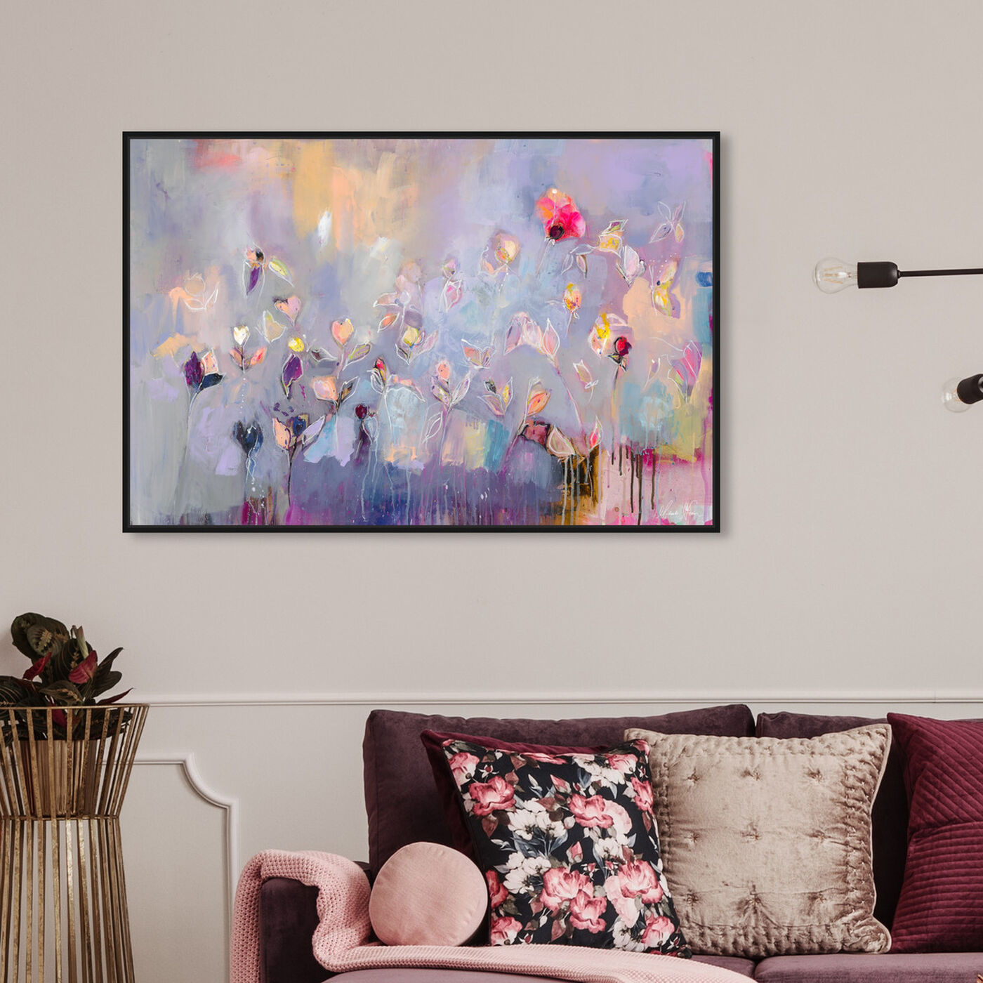 Hanging view of Infinitely Divine by Michaela Nessim featuring abstract and paint art.