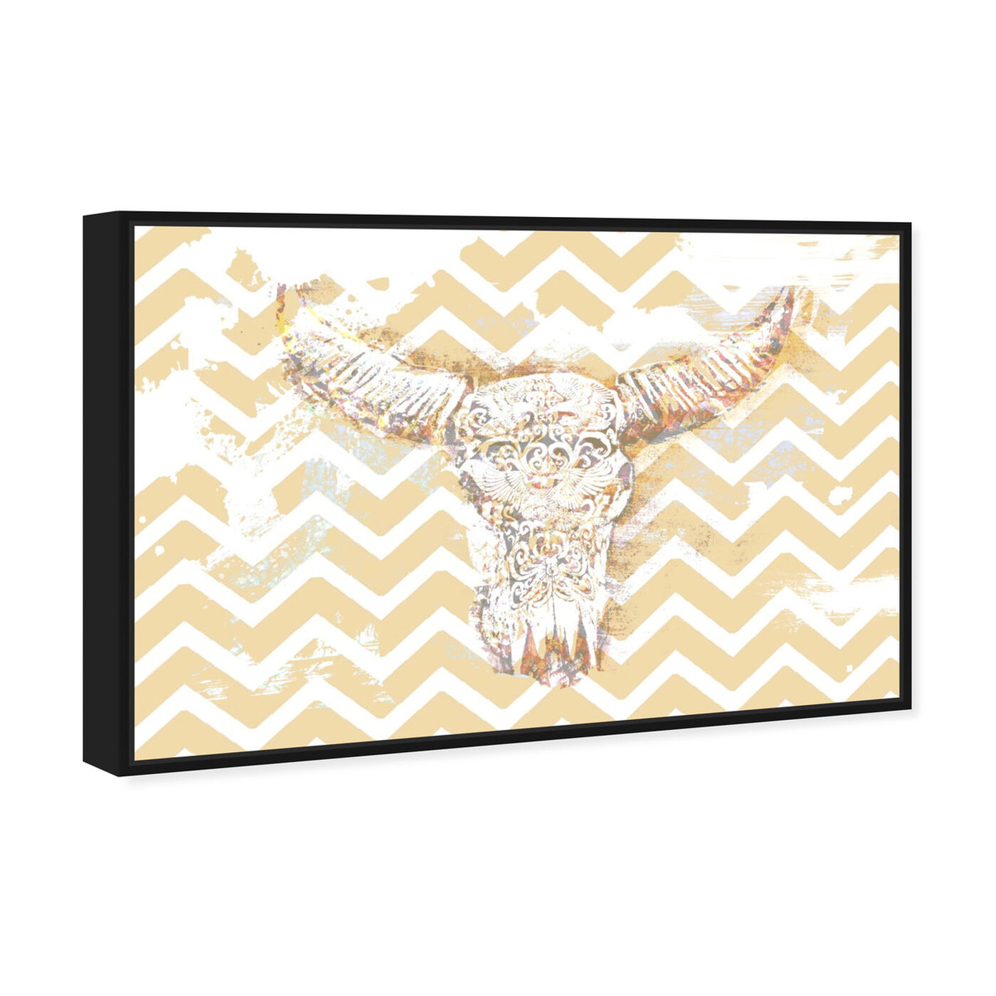 Angled view of Chevron Skull featuring animals and farm animals art.