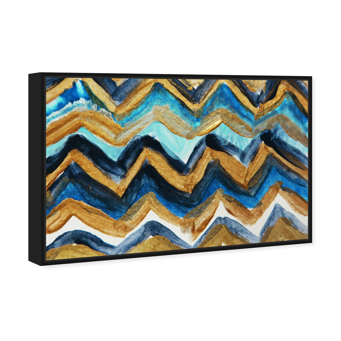Angled view of French Riviera - Signature Collection featuring abstract and paint art.