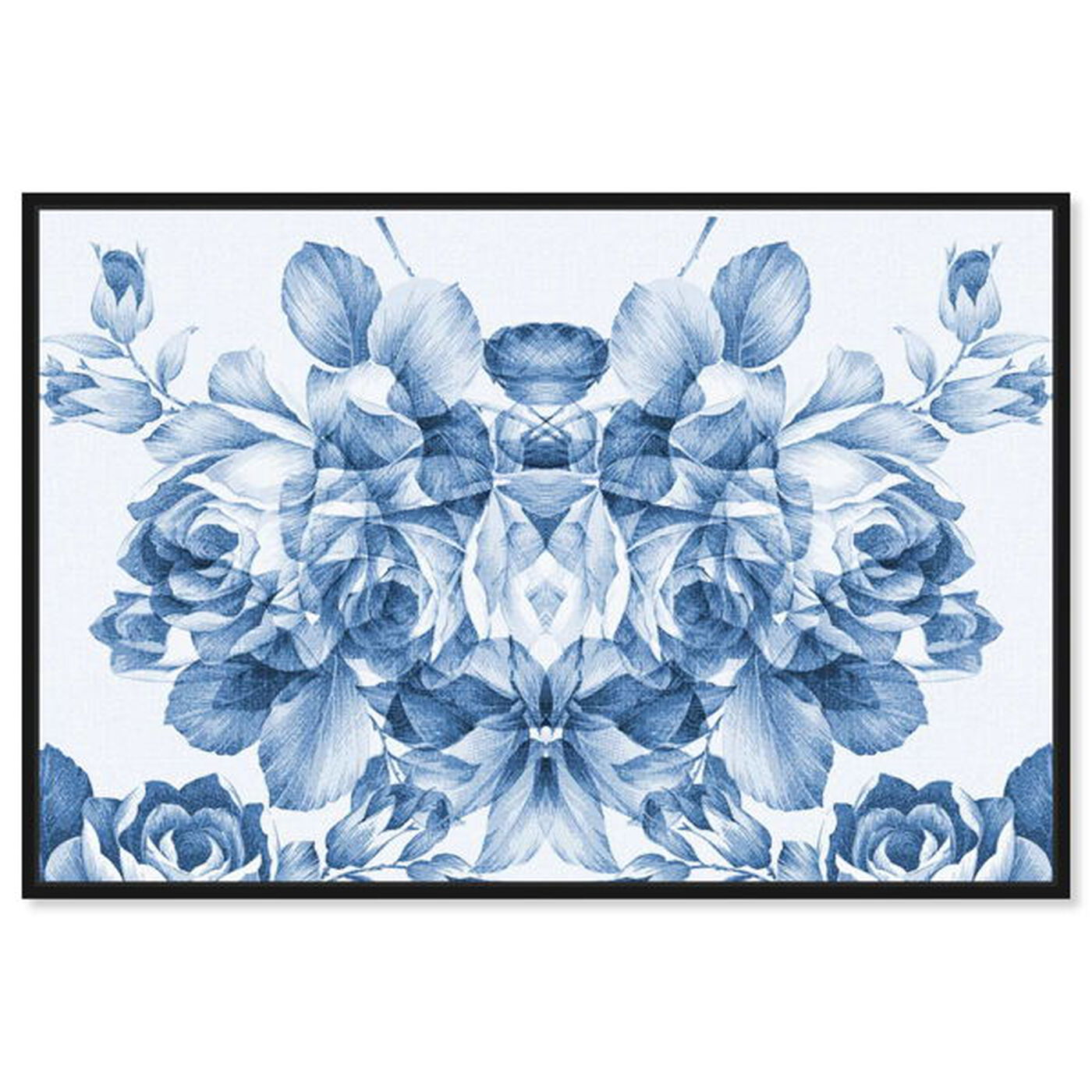 Front view of Floral Madness Blue featuring floral and botanical and florals art.