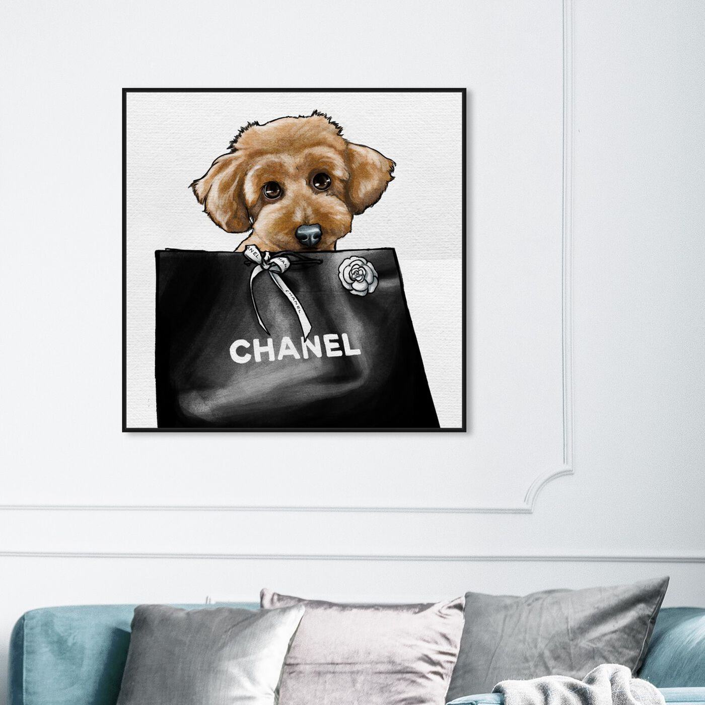 Hanging view of Poodle Glam featuring fashion and glam and fashion art.