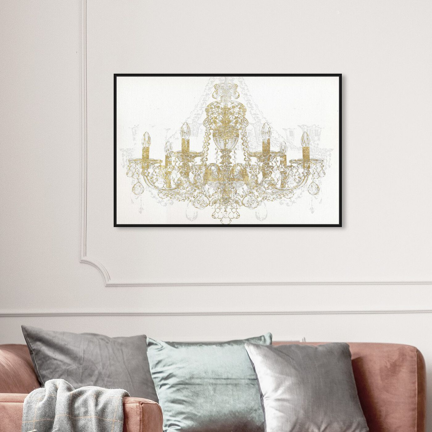 Hanging view of Chandelier Diamond featuring fashion and glam and chandeliers art.