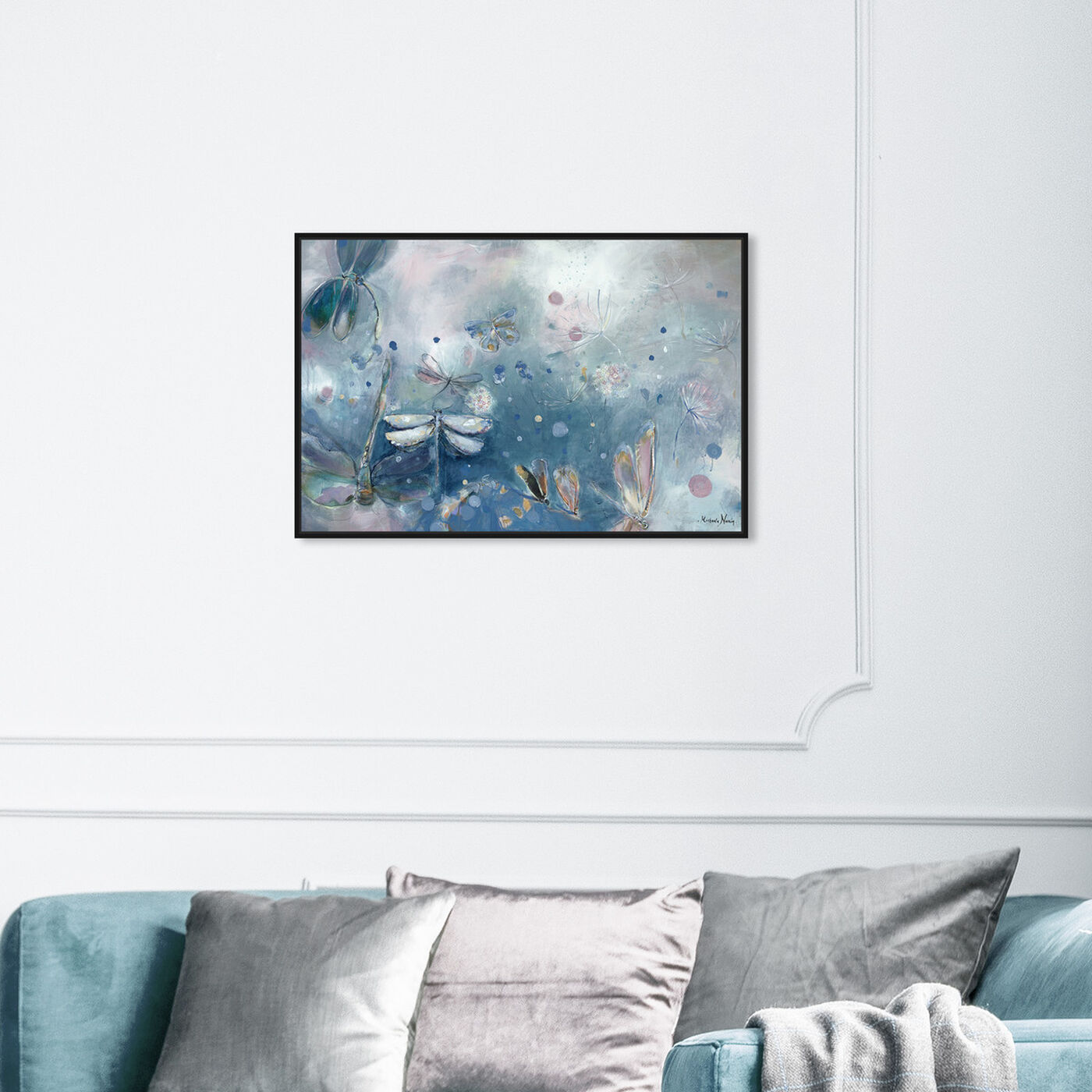 Hanging view of Michaela Nessim - A dragonfly dream featuring animals and insects art.