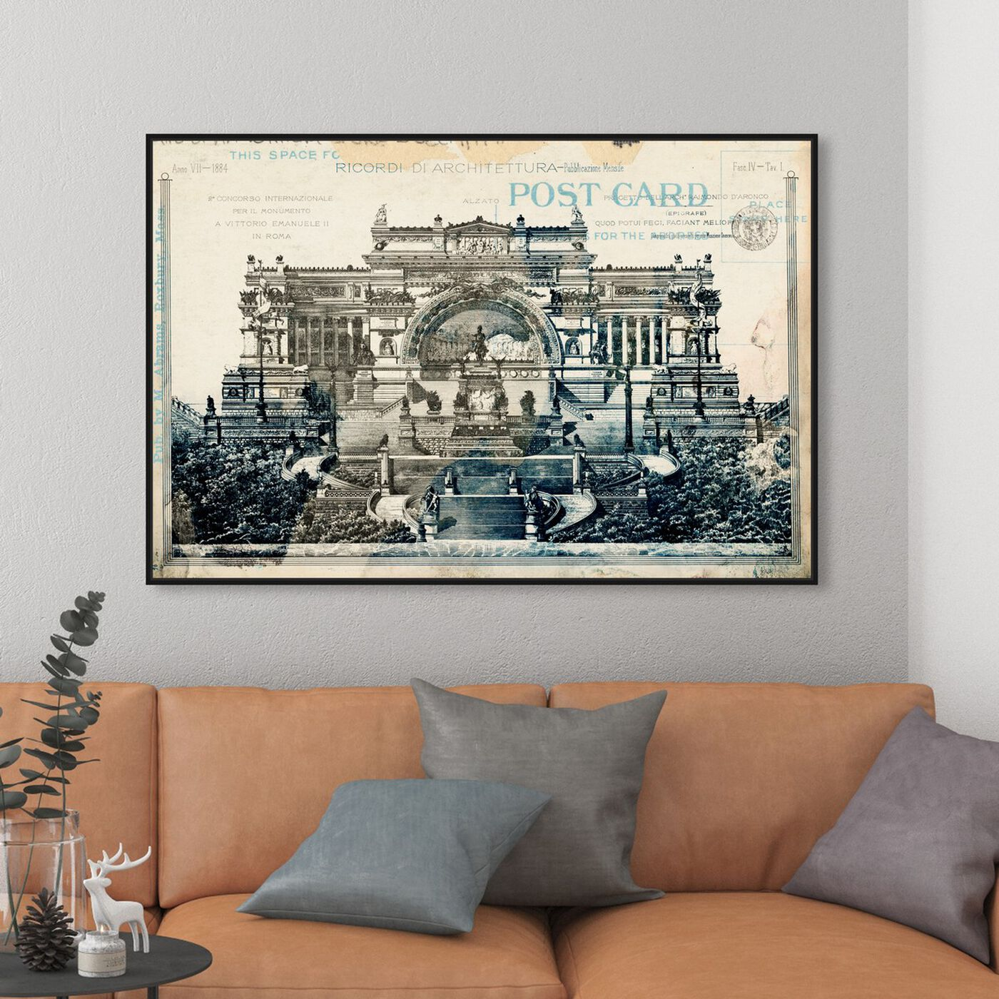 Hanging view of Monumento Vittorio Emanuelle II featuring architecture and buildings and structures art.