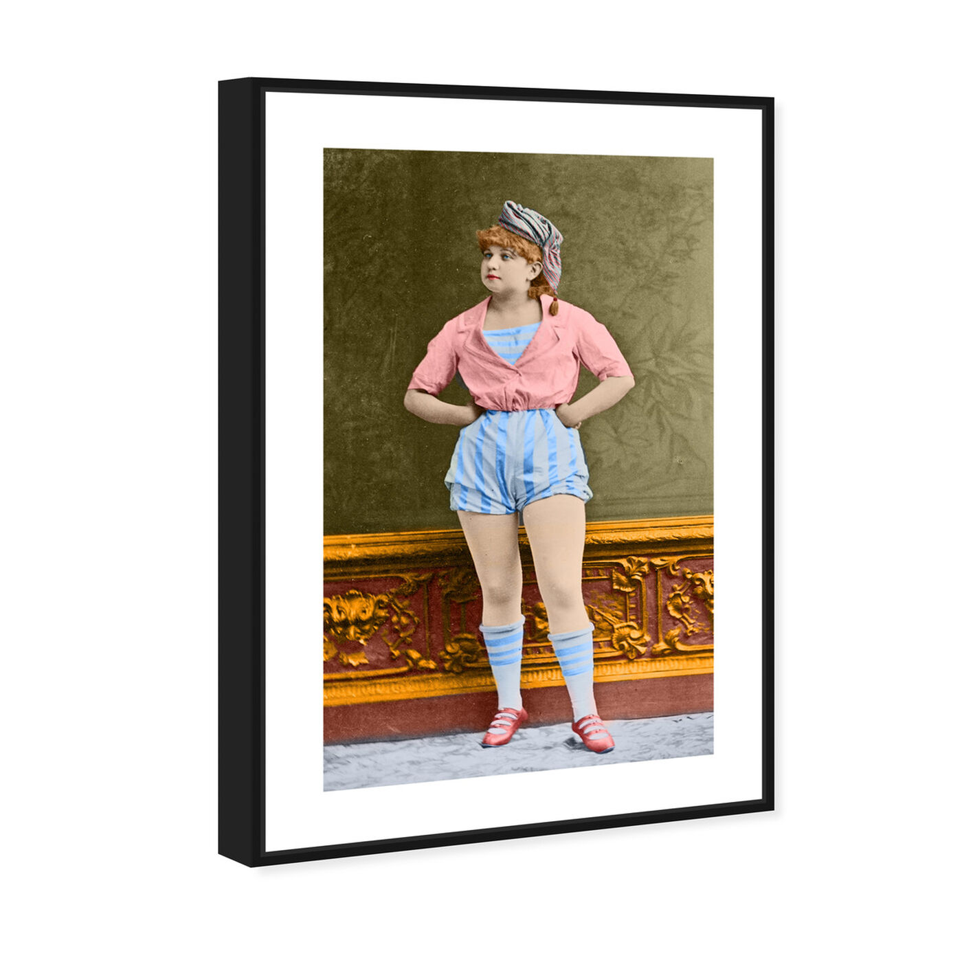 Angled view of Vintage Woman featuring people and portraits and portraits art.