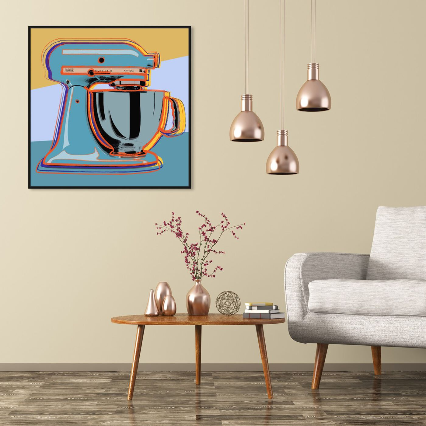 Hanging view of Classic Blender featuring food and cuisine and baking essentials art.