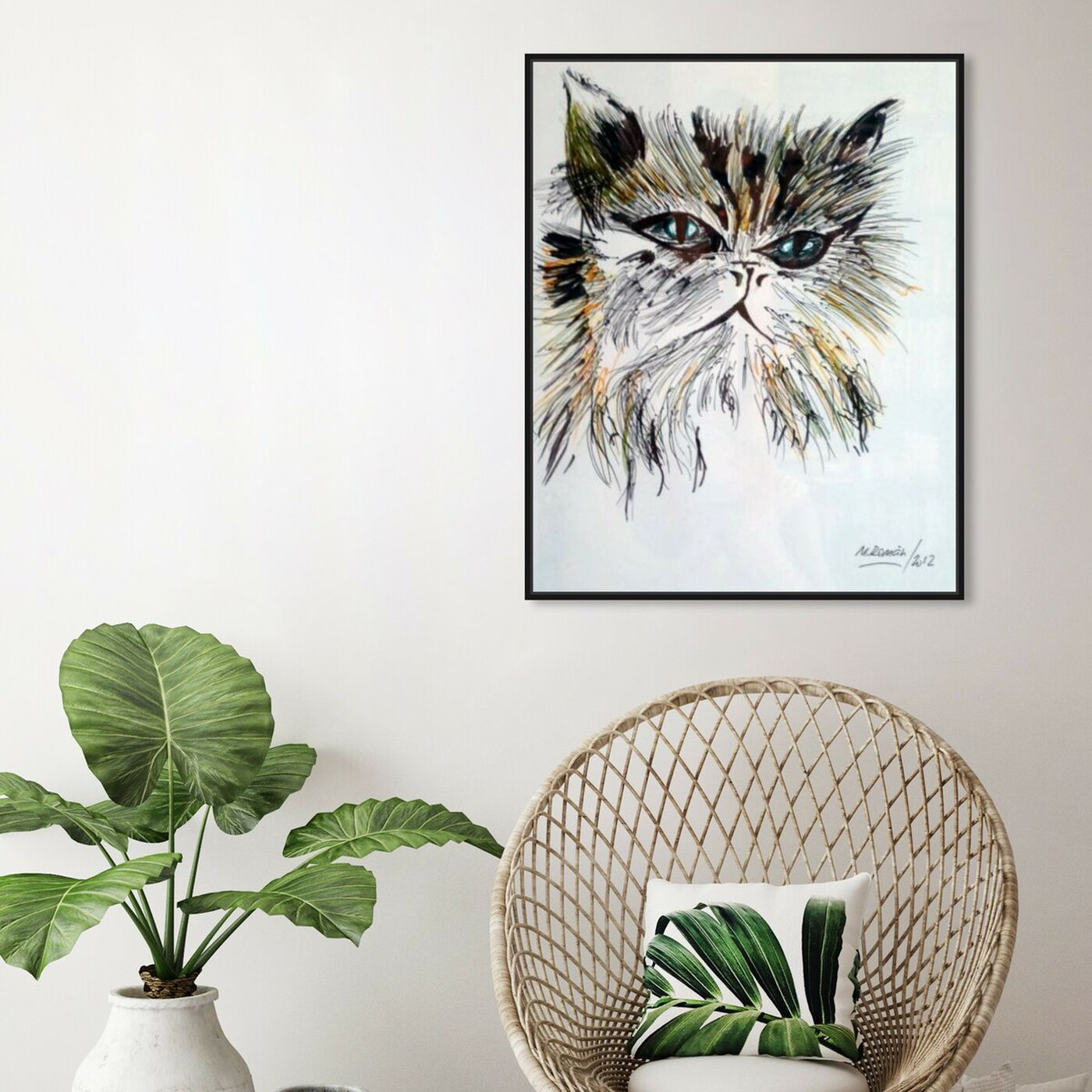 Hanging view of Gato Misifu featuring animals and cats and kitties art.
