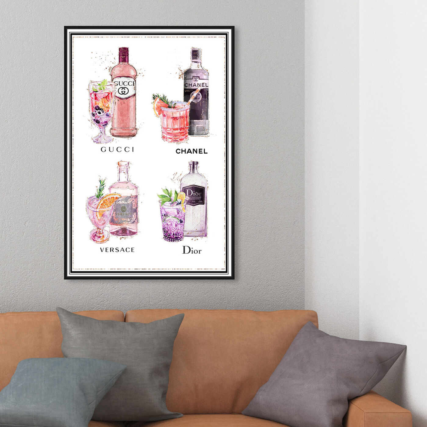 Hanging view of Fashion Drink Choices featuring drinks and spirits and liquor art.