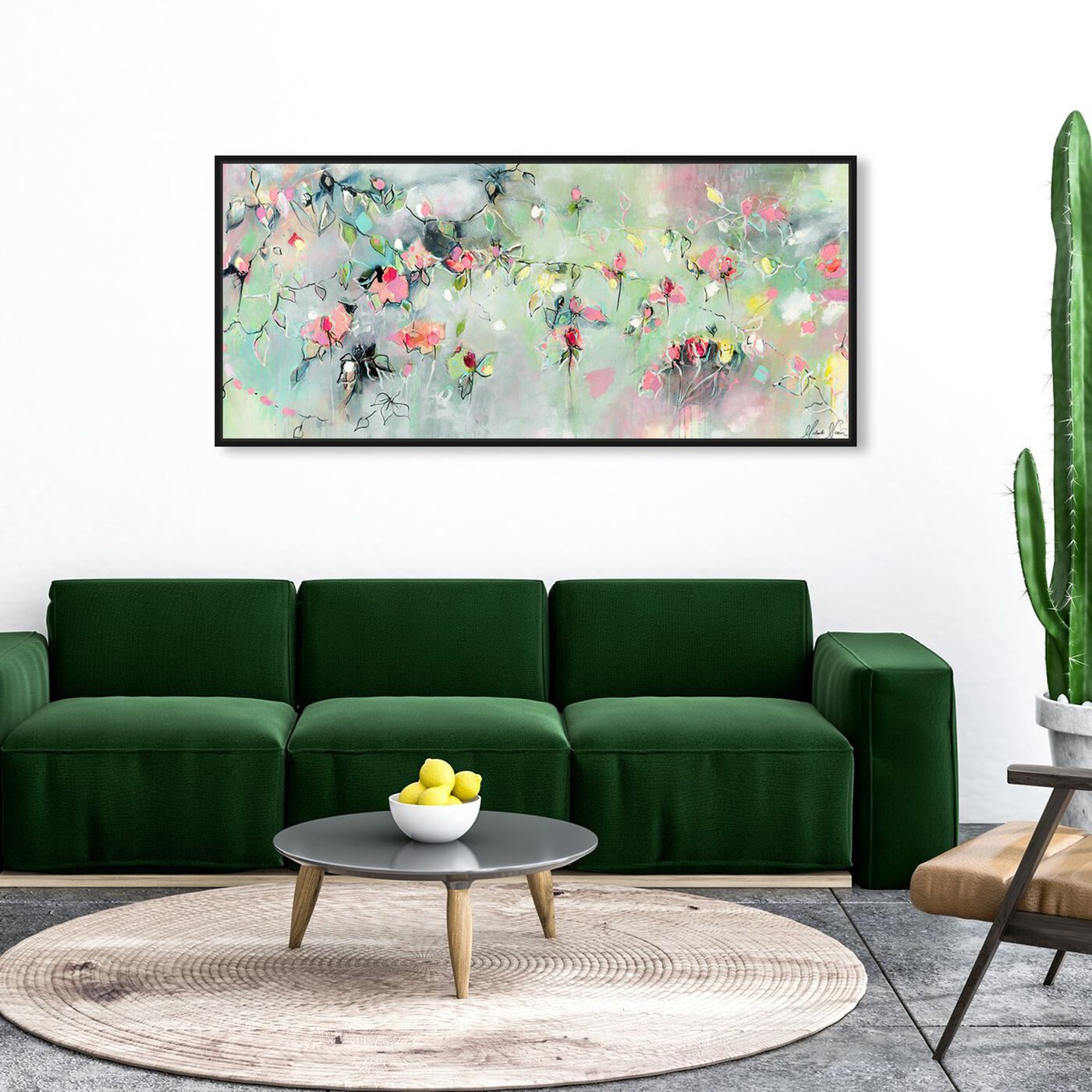 Hanging view of Appear and Disappear by Michaela Nessim featuring abstract and flowers art.