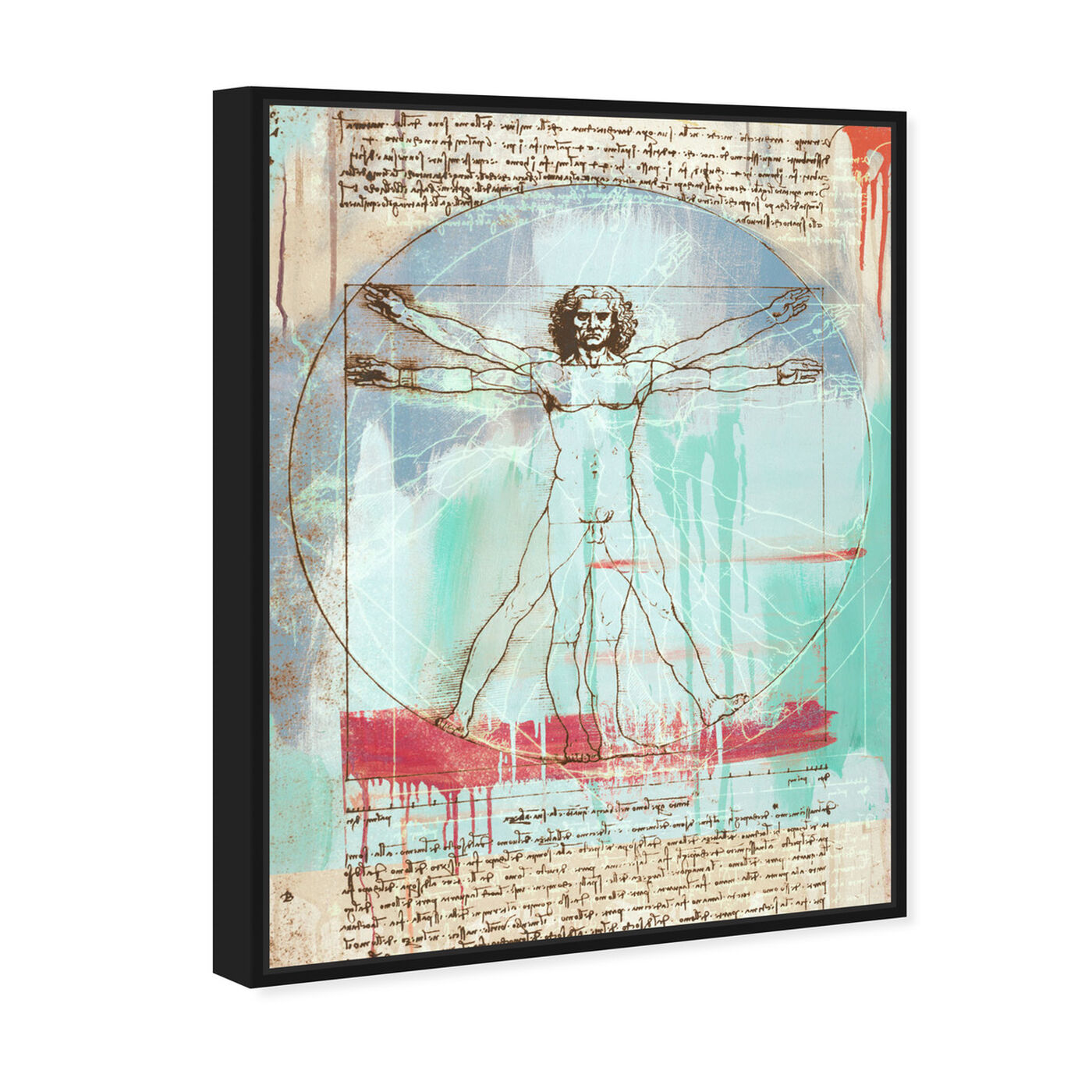 Angled view of Sai - Vitruvian Man 3EH2821 featuring education and office and scientist art.