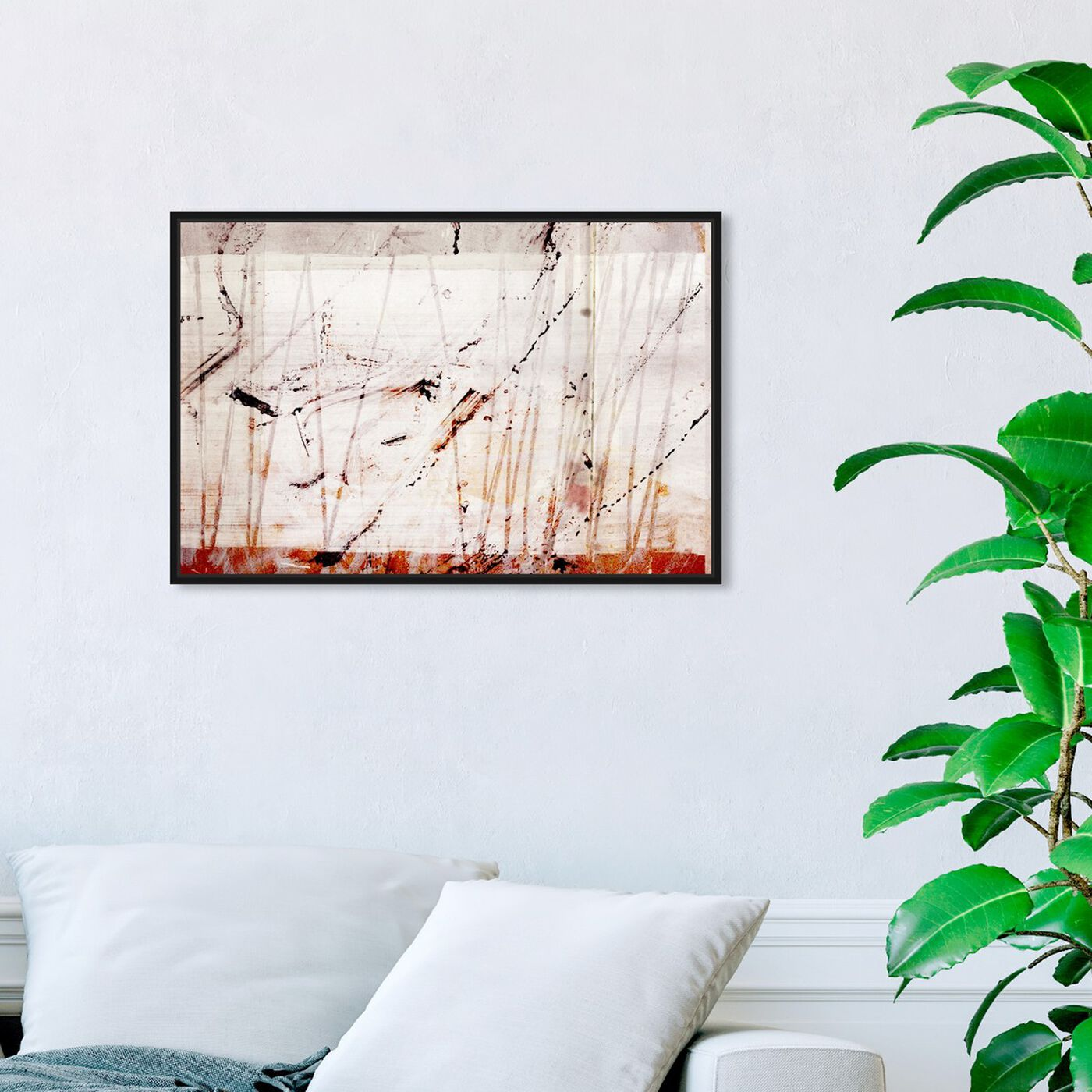 Hanging view of When It's All Over featuring abstract and paint art.