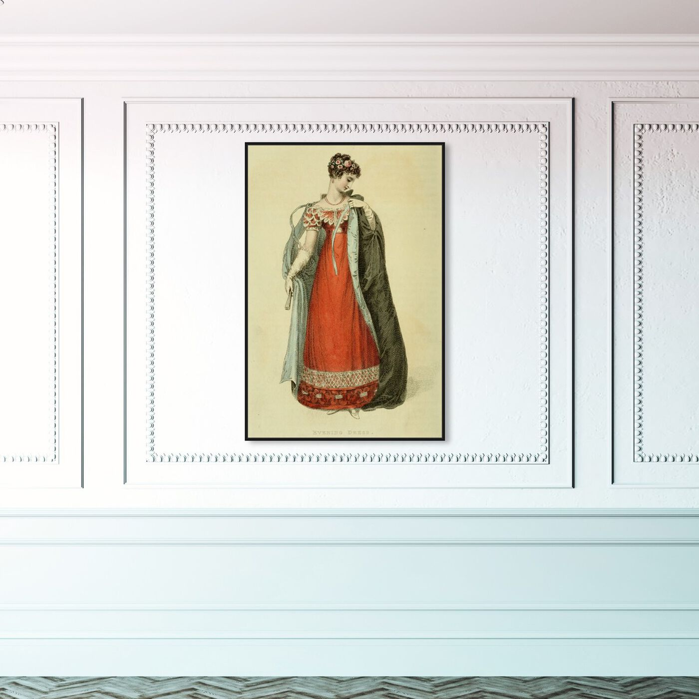 Hanging view of Evening Dress - The Art Cabinet featuring classic and figurative and realism art.